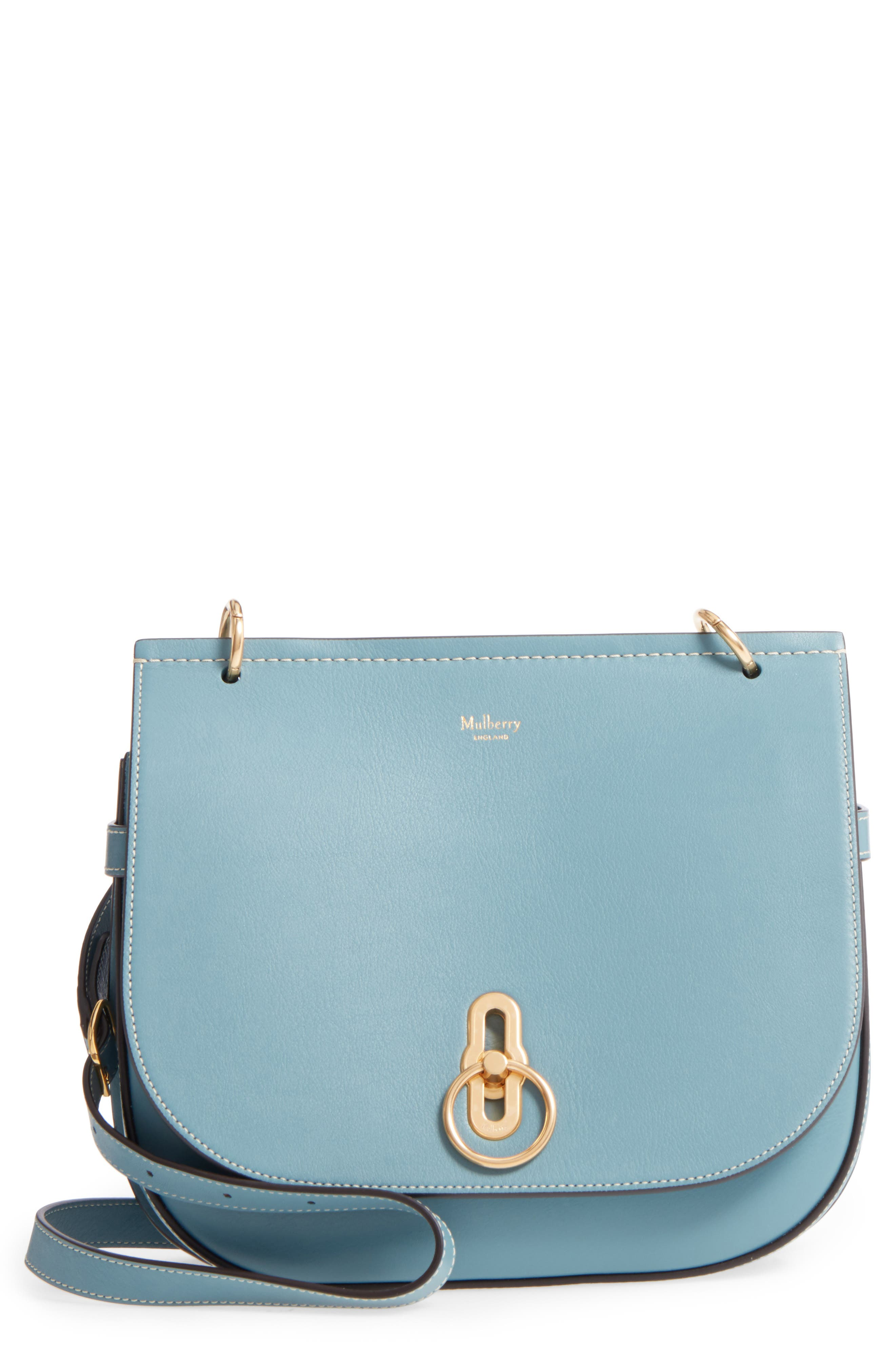 Amberley Calfskin Leather Shoulder Bag,                             Main thumbnail 1, color,                             Blue