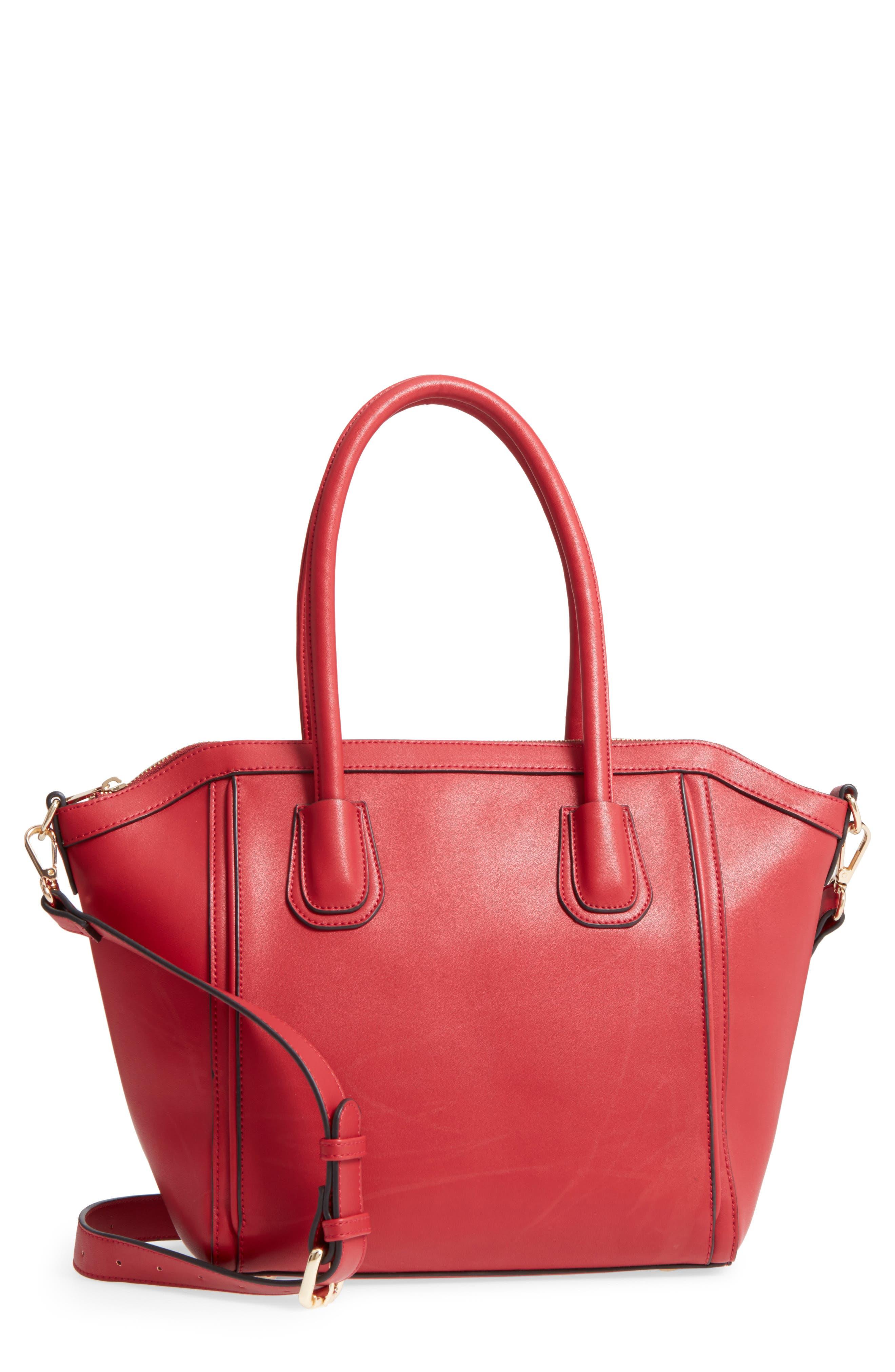 Main Image - Sole Society Amada Faux Leather Satchel