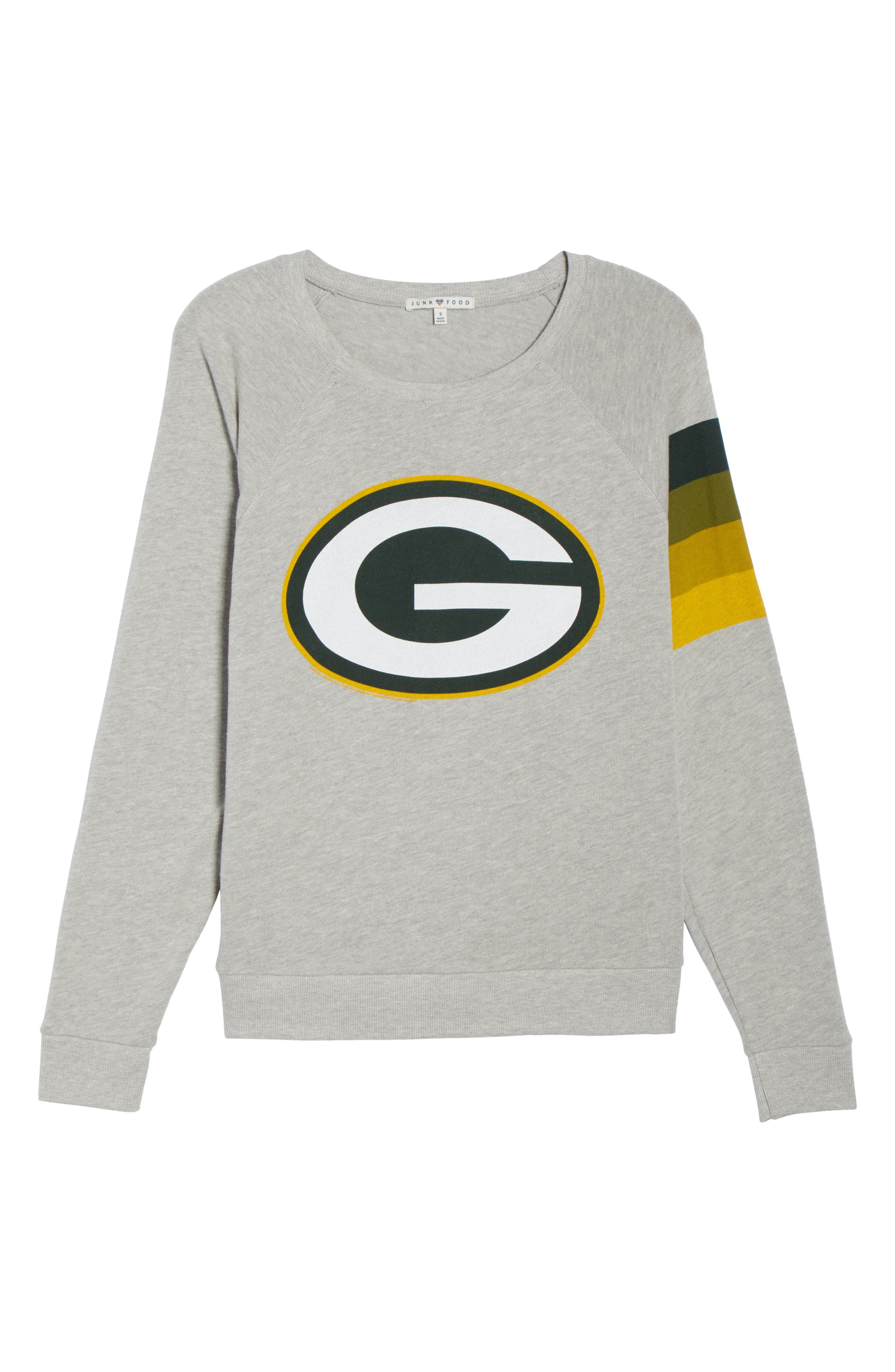 NF Green Bay Packers Hacci Sweatshirt,                             Alternate thumbnail 7, color,                             Dove Heather Grey
