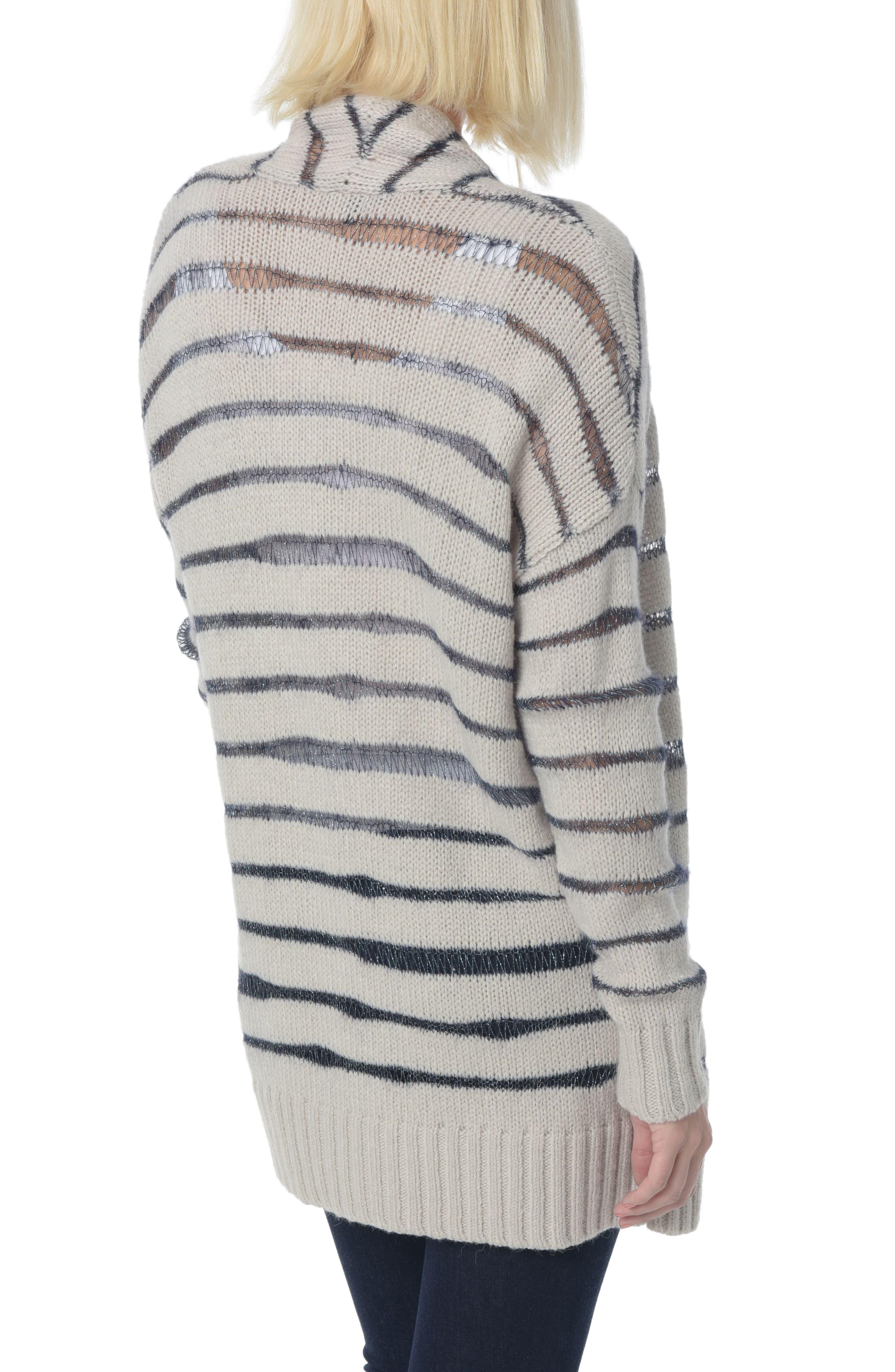 Alternate Image 2  - NYDJ Metallic Striped Cardigan
