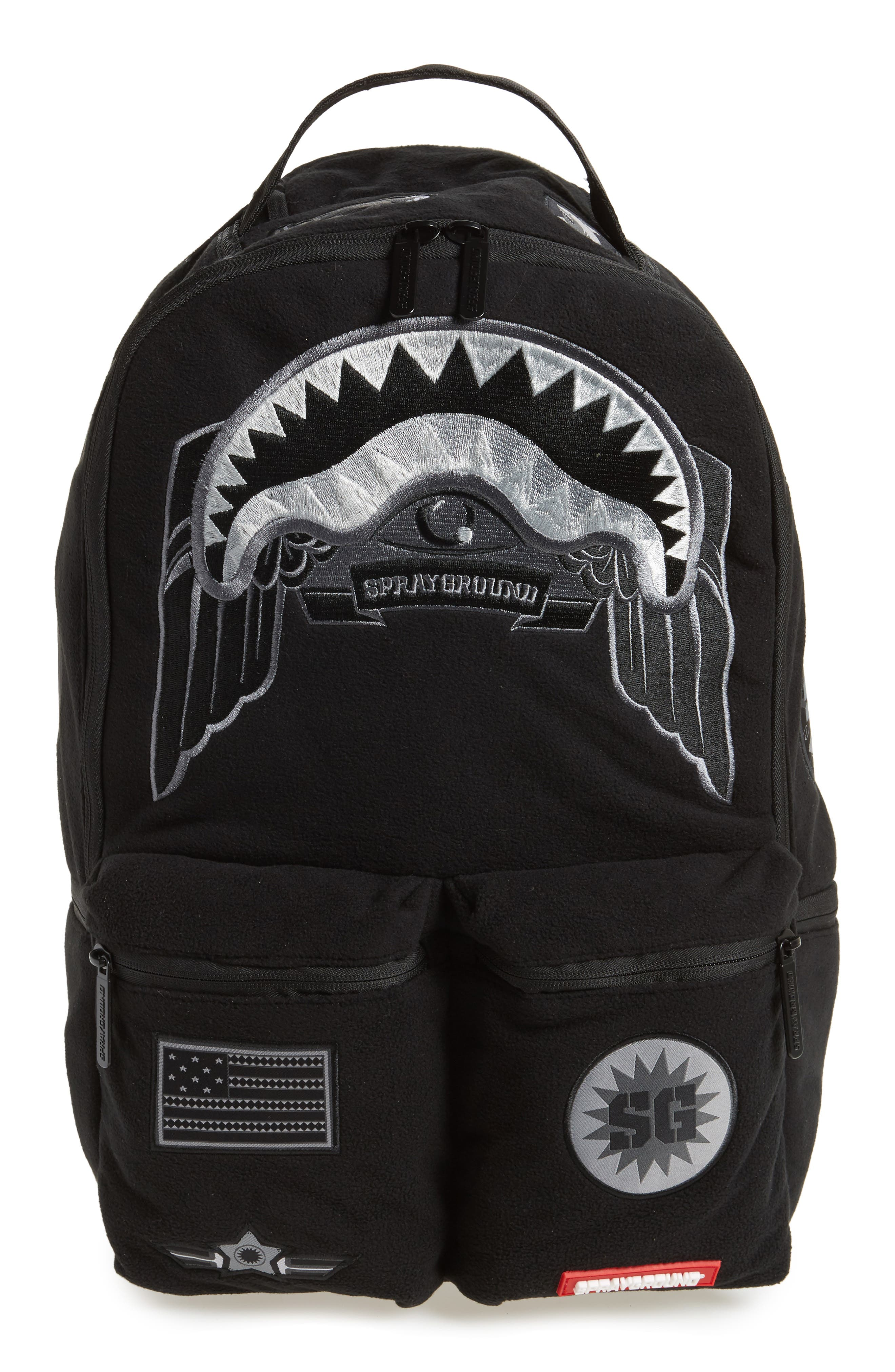 272f9eb9f40 SPRAYGROUND GHOST ARMY PATCHES BACKPACK - BLACK