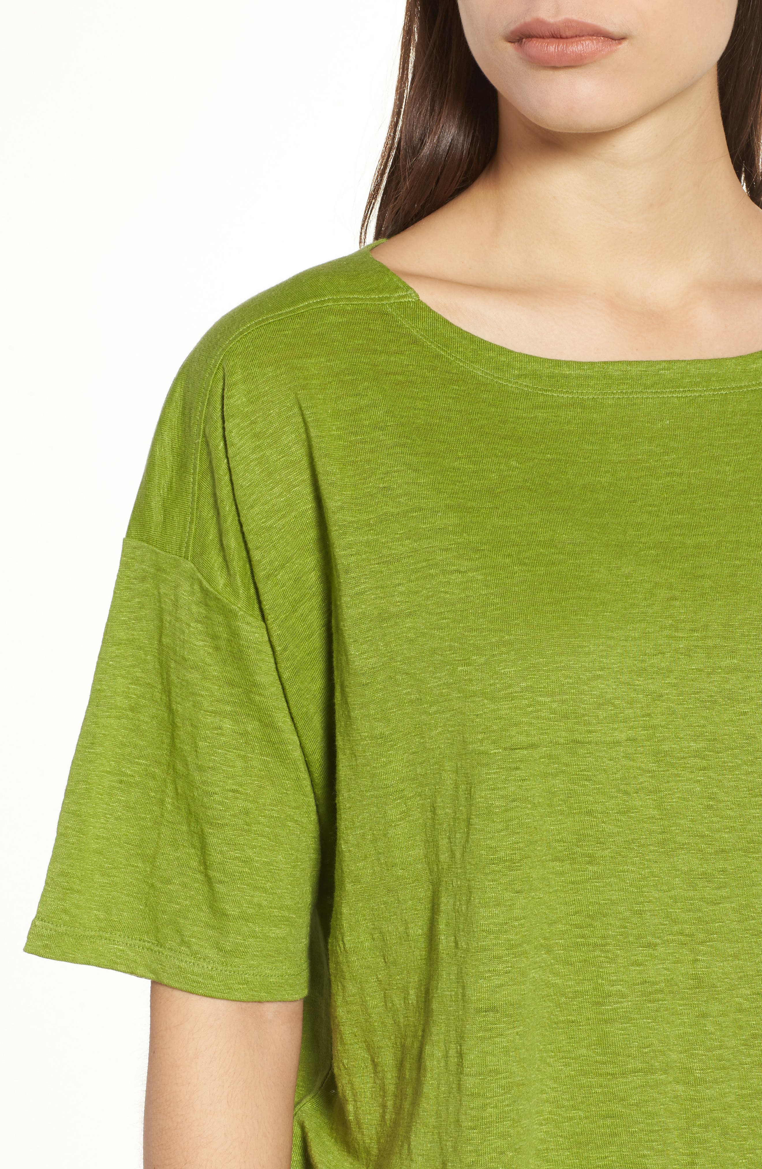 Alternate Image 4  - Eileen Fisher Slouchy Organic Linen Top