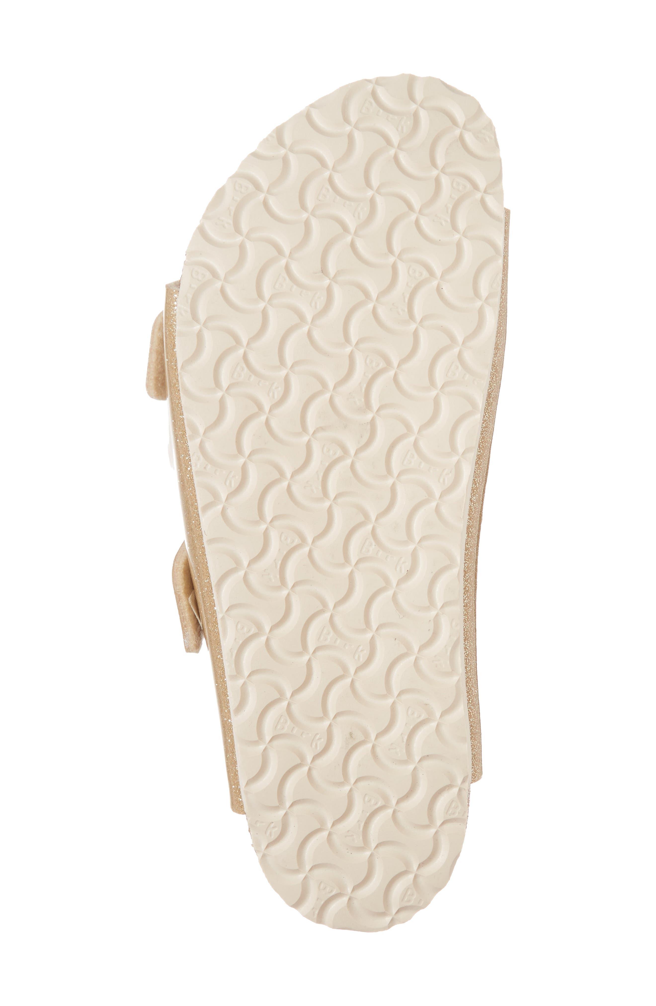 'Arizona Galaxy Birko-Flor' Slide Sandal,                             Alternate thumbnail 6, color,                             Galaxy Gold