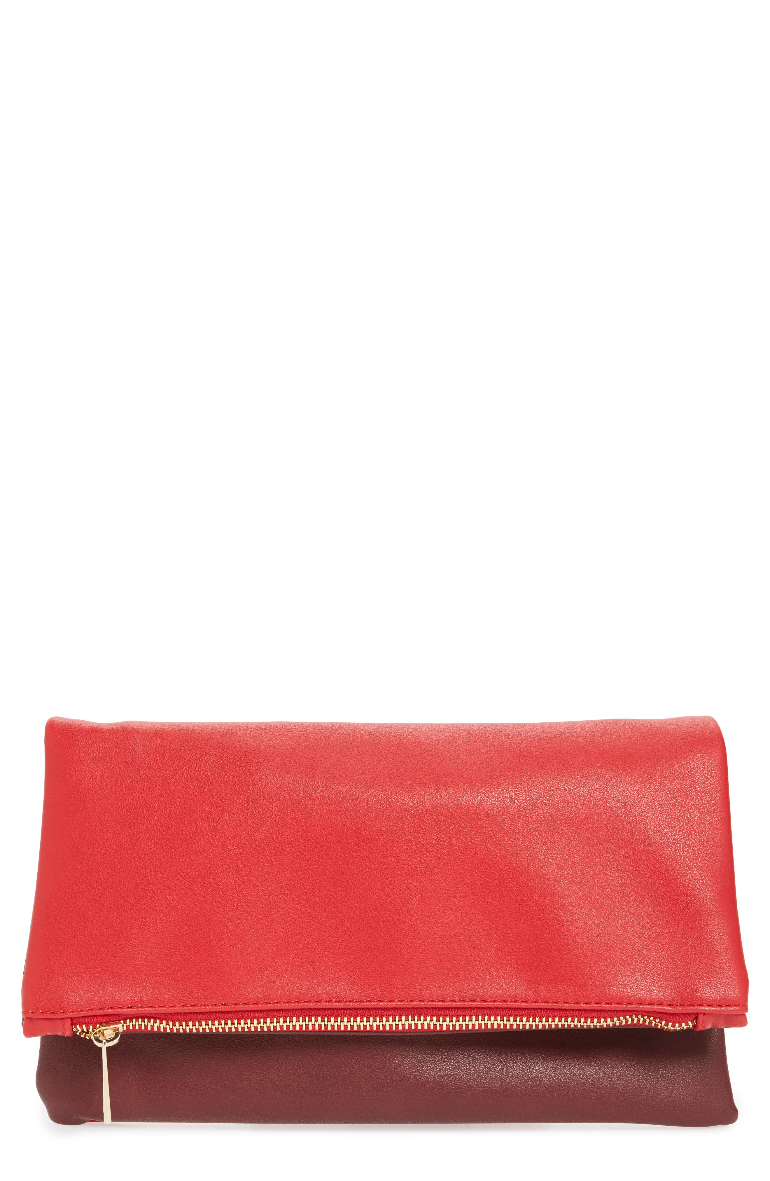 BP. Faux Leather Fold-Over Clutch