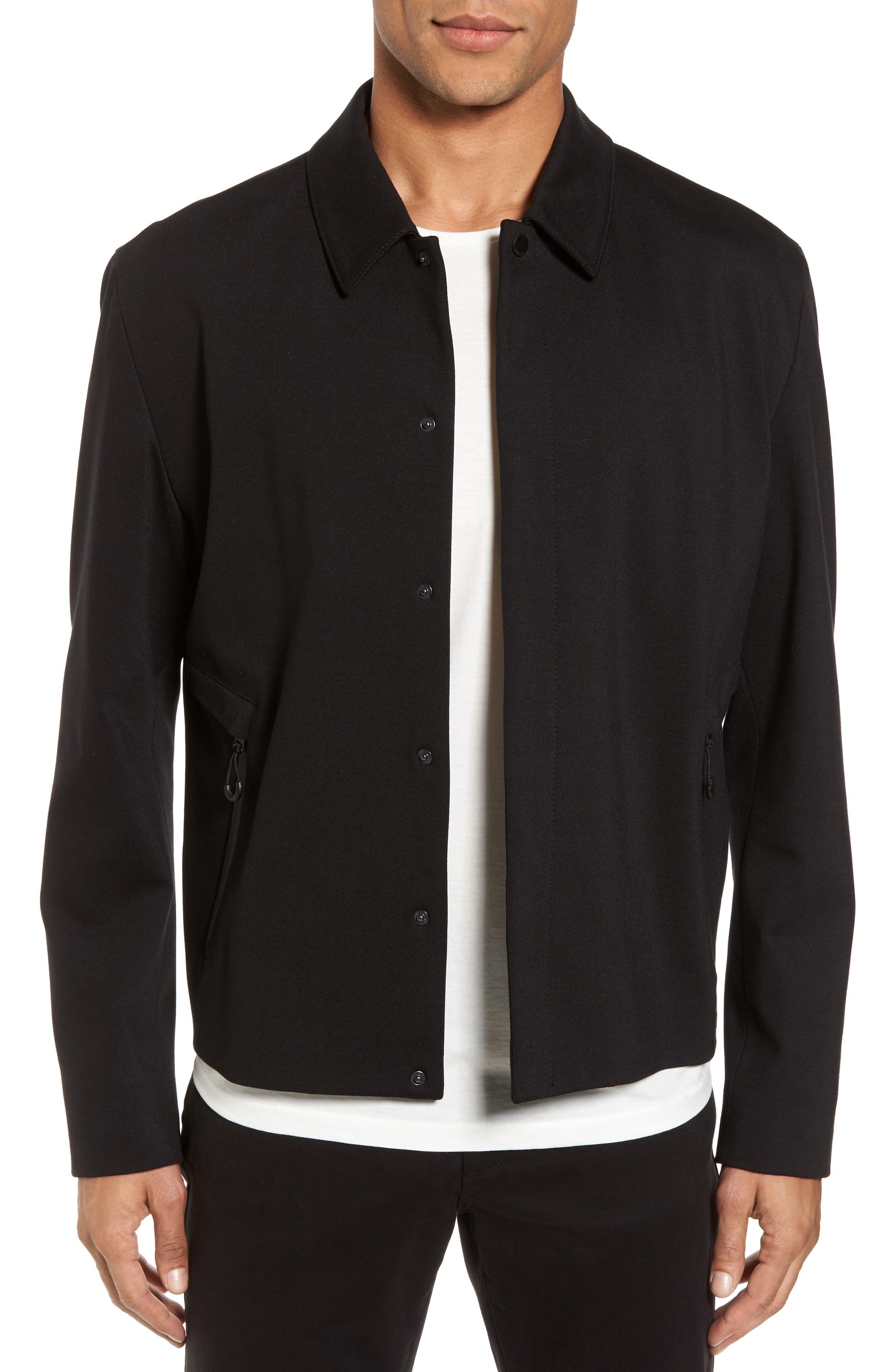 Hugo Boss Babenu Shirt Jacket,                         Main,                         color, Black