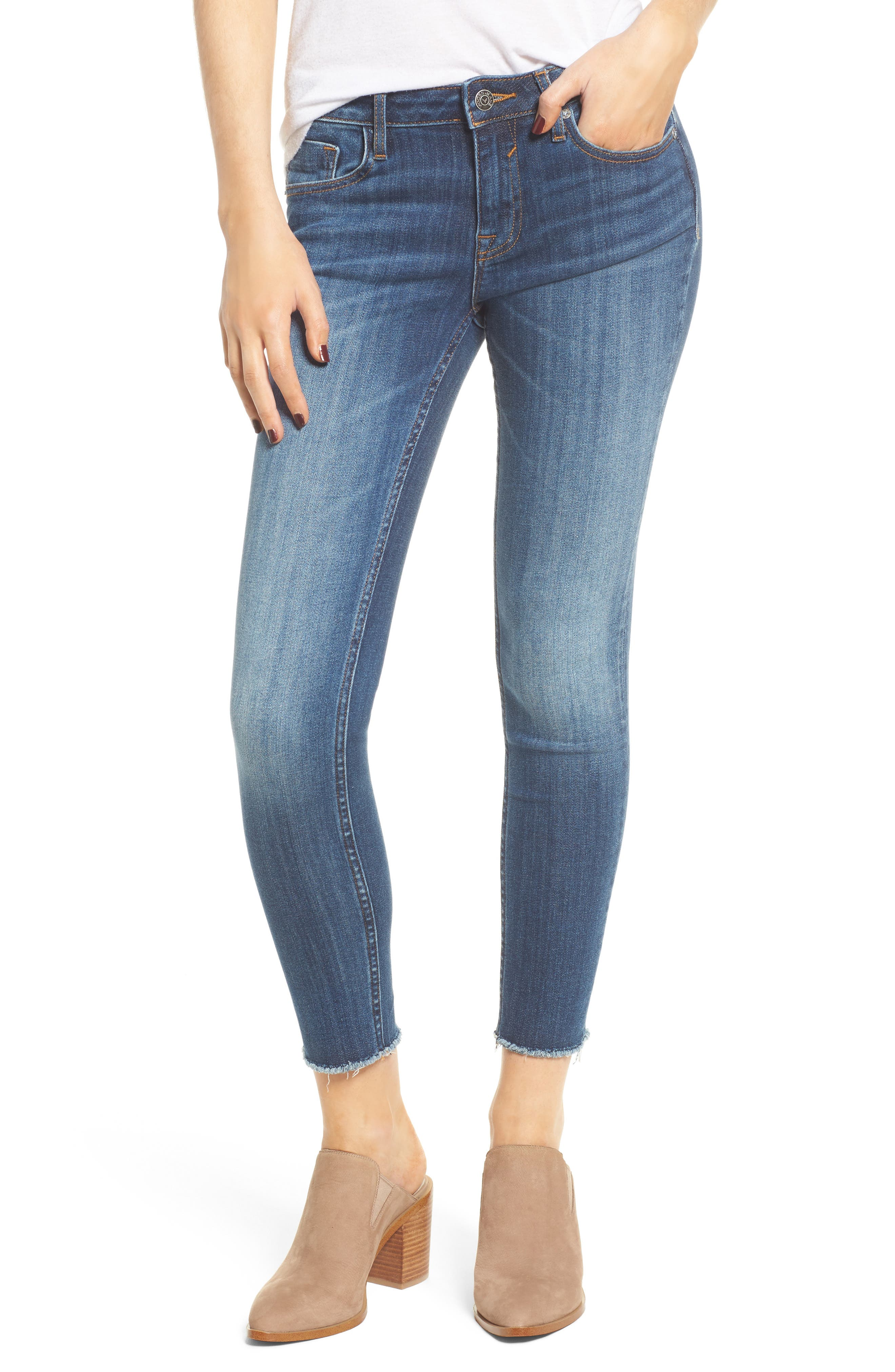 Jagger Mid-Rise Skinny Jeans,                         Main,                         color, Med Wash