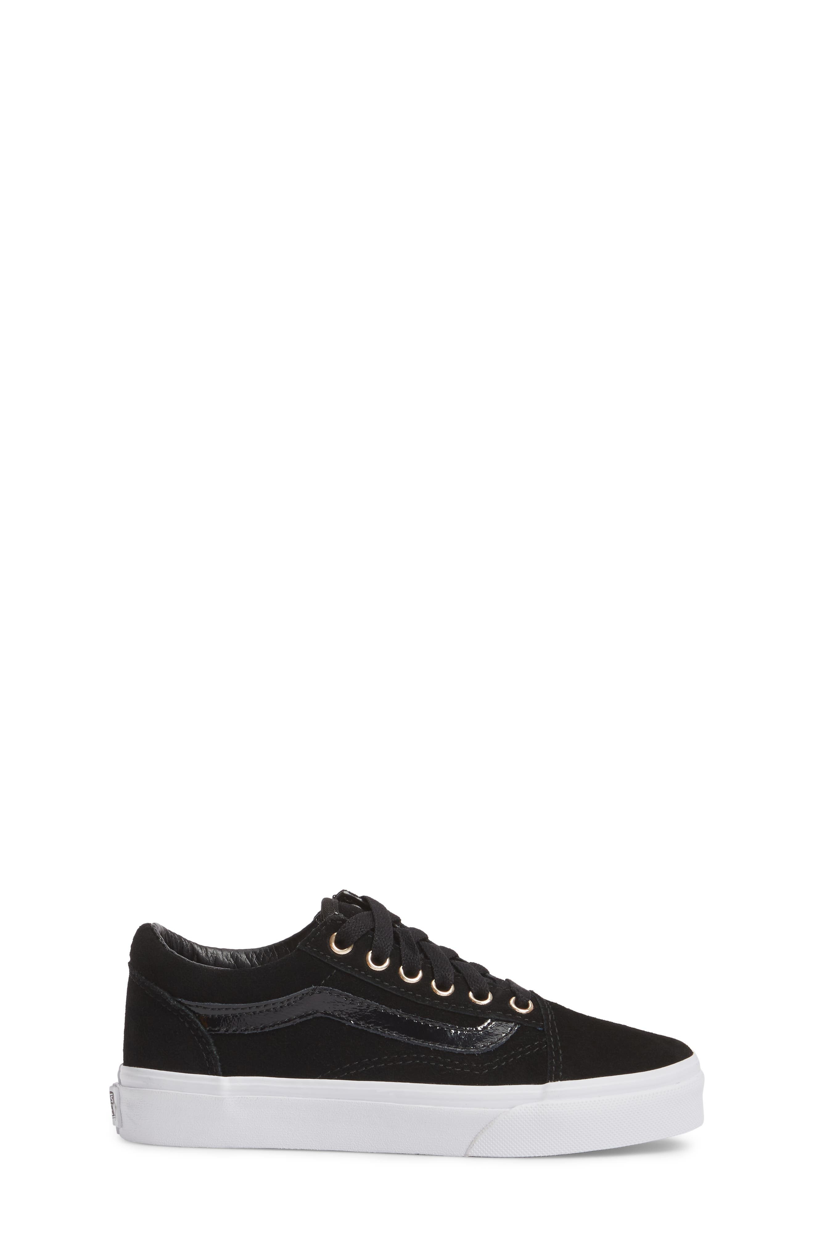 Old Skool Sneaker,                             Alternate thumbnail 3, color,                             Black/ Gold