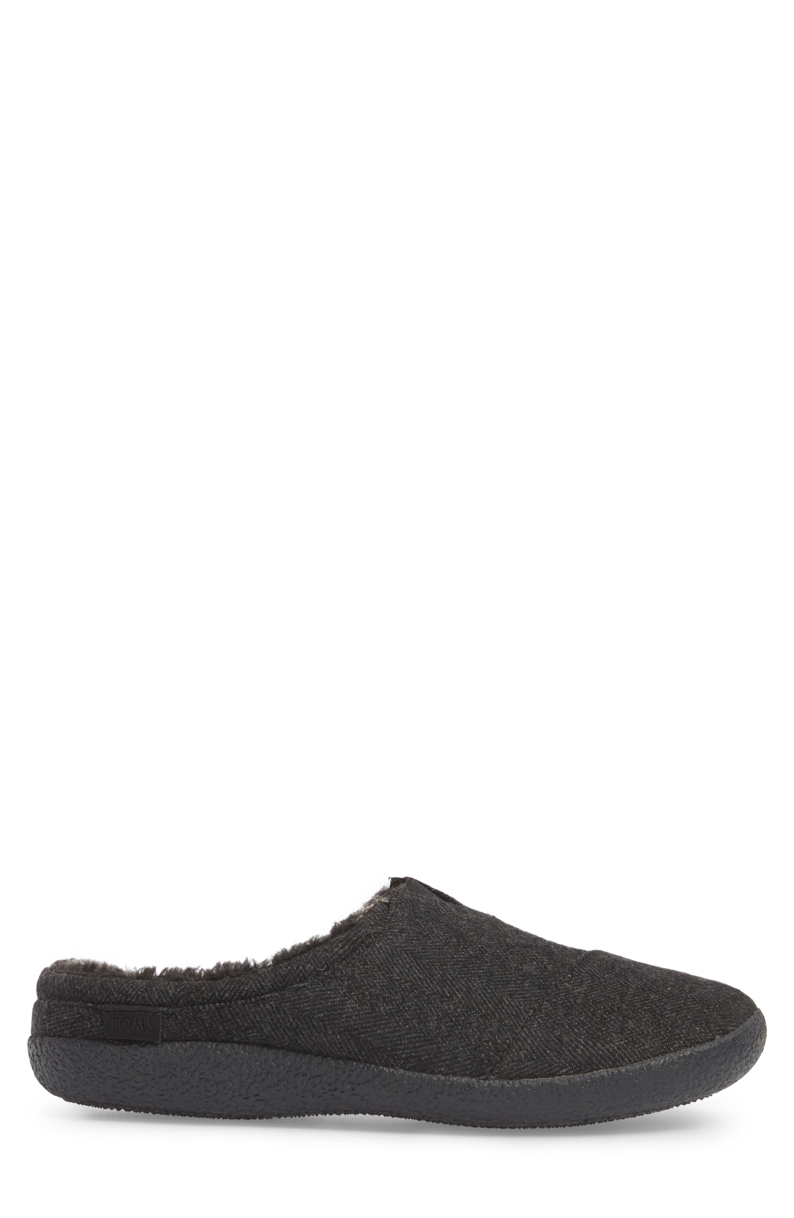 Berkeley Slipper with Faux Fur Lining,                             Alternate thumbnail 3, color,                             Black