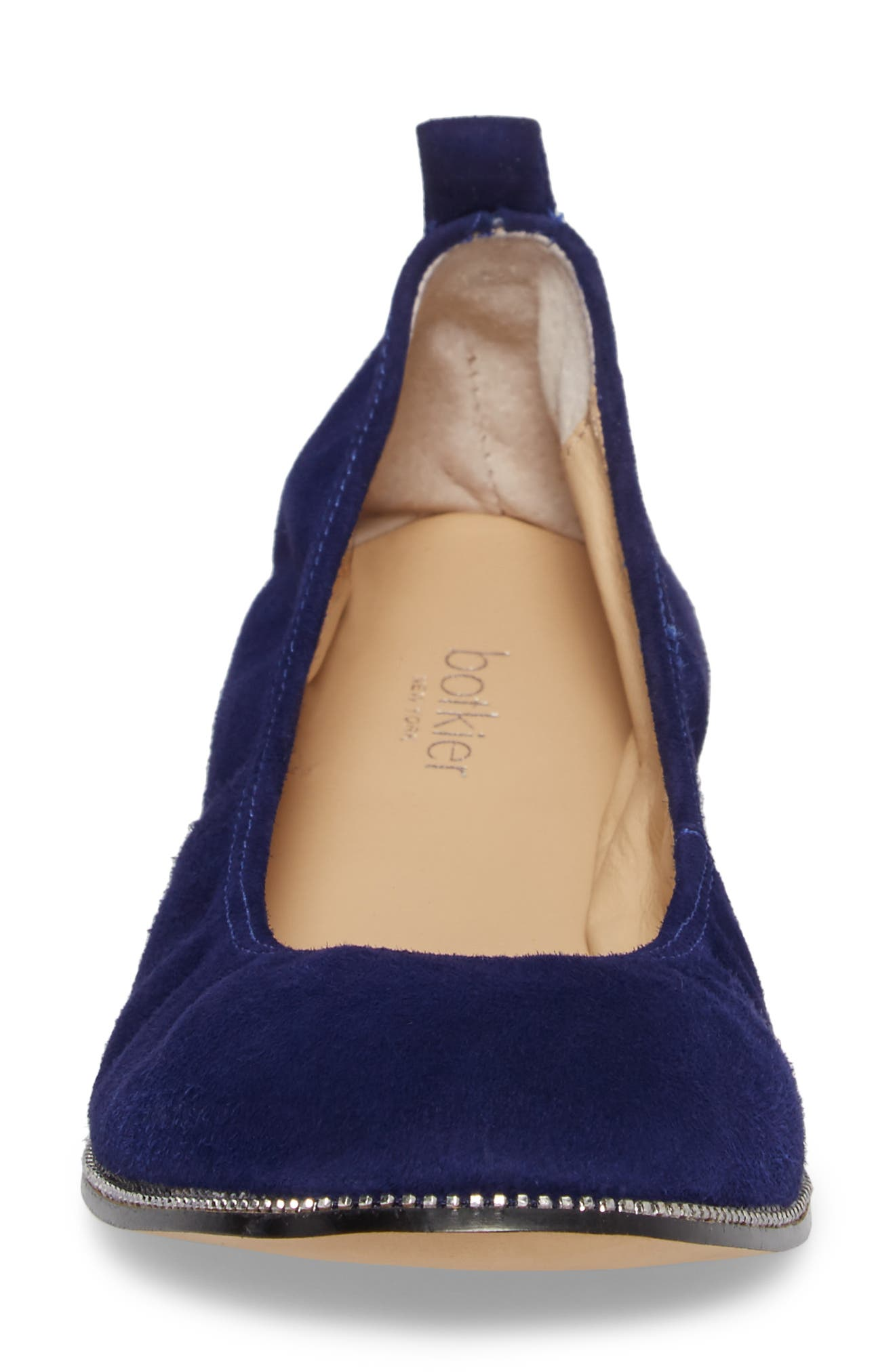 Mason Ballet Flat,                             Alternate thumbnail 4, color,                             Ultra Marine Suede