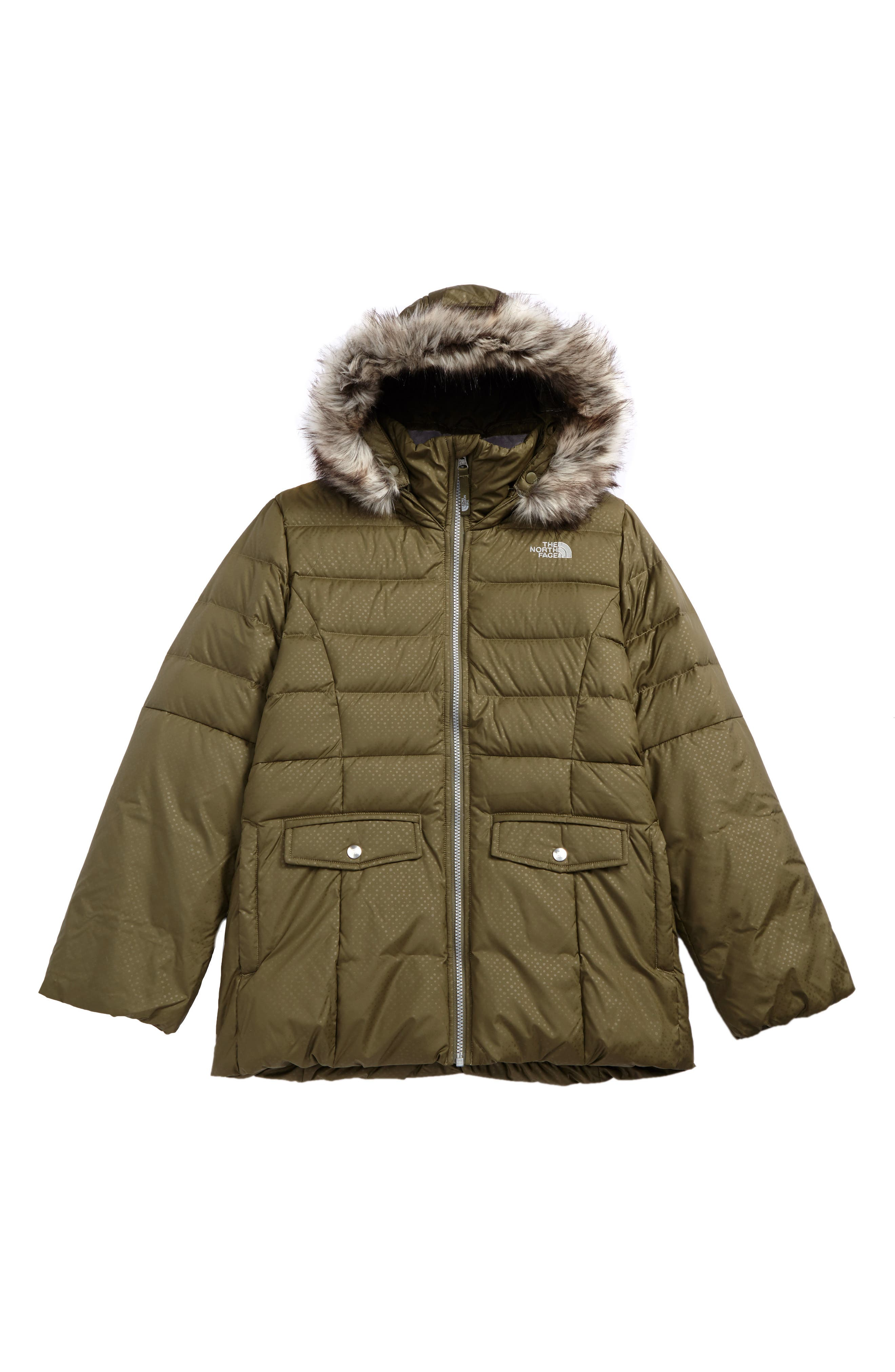 Main Image - The North Face Gotham 2.0 550-Fill Down Jacket (Little Girls & Big Girls)