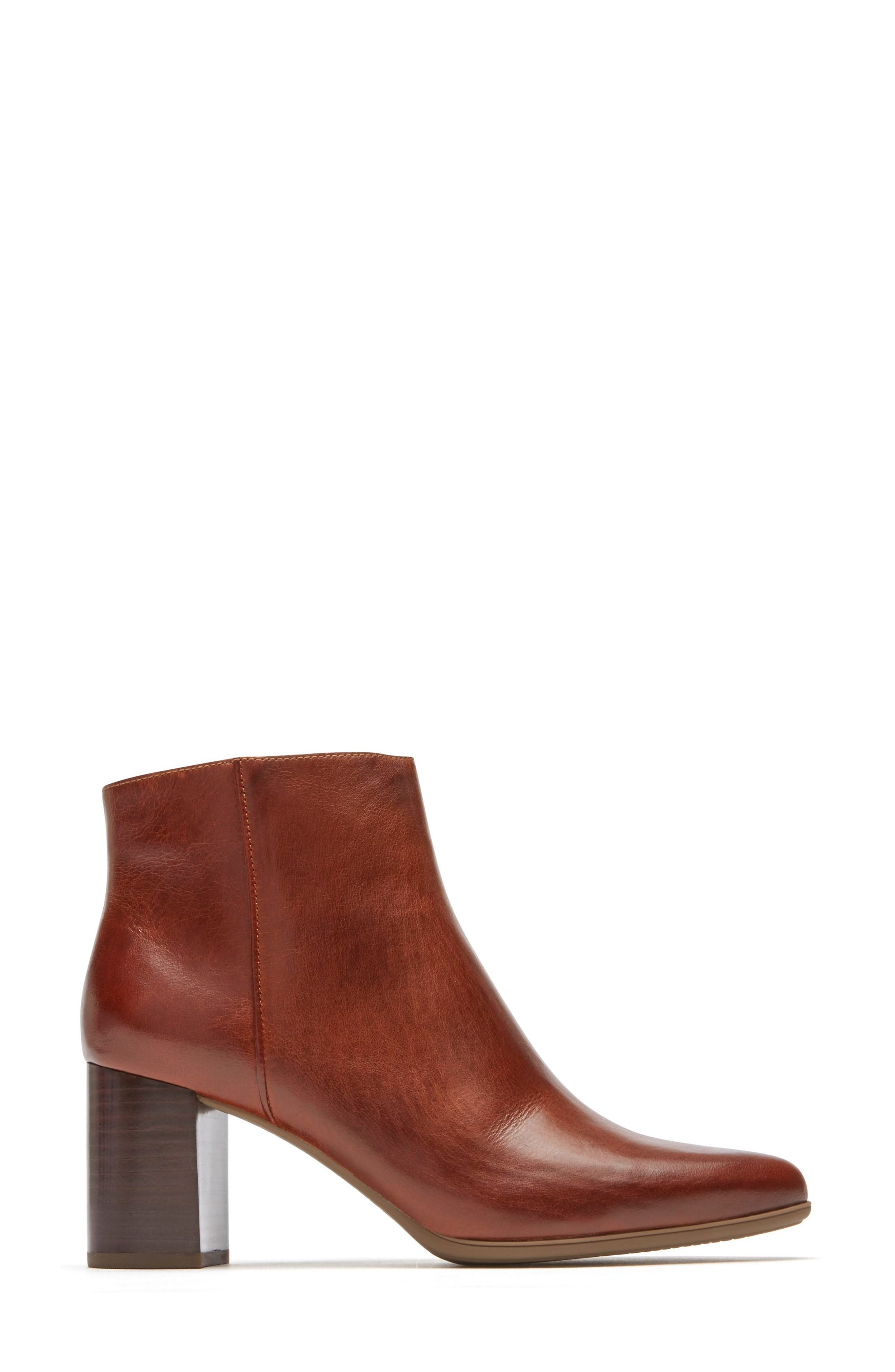 Lynix Luxe Bootie,                             Alternate thumbnail 3, color,                             Saddle Leather