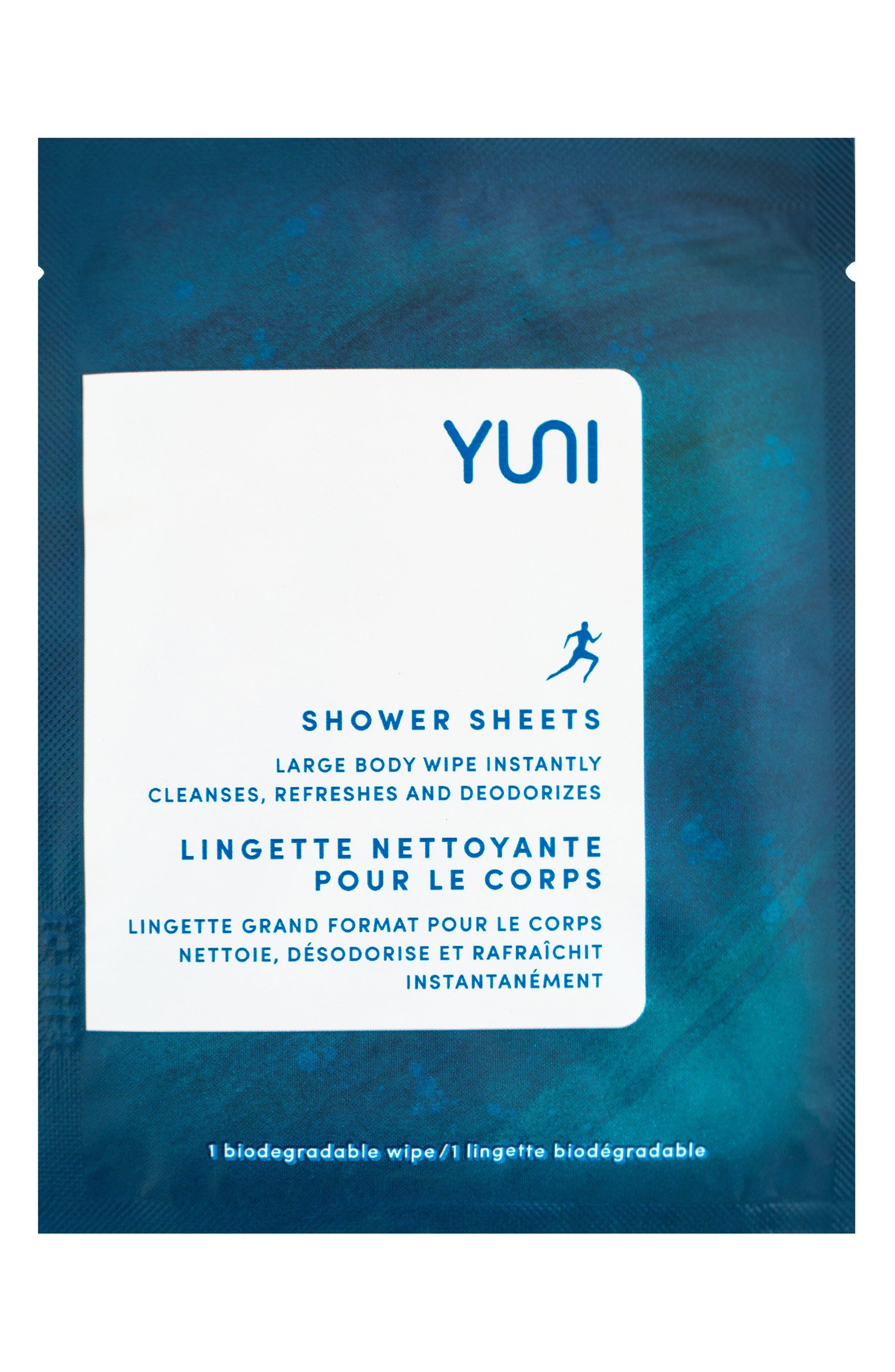 Main Image - YUNI Shower Sheets Large Body Wipes