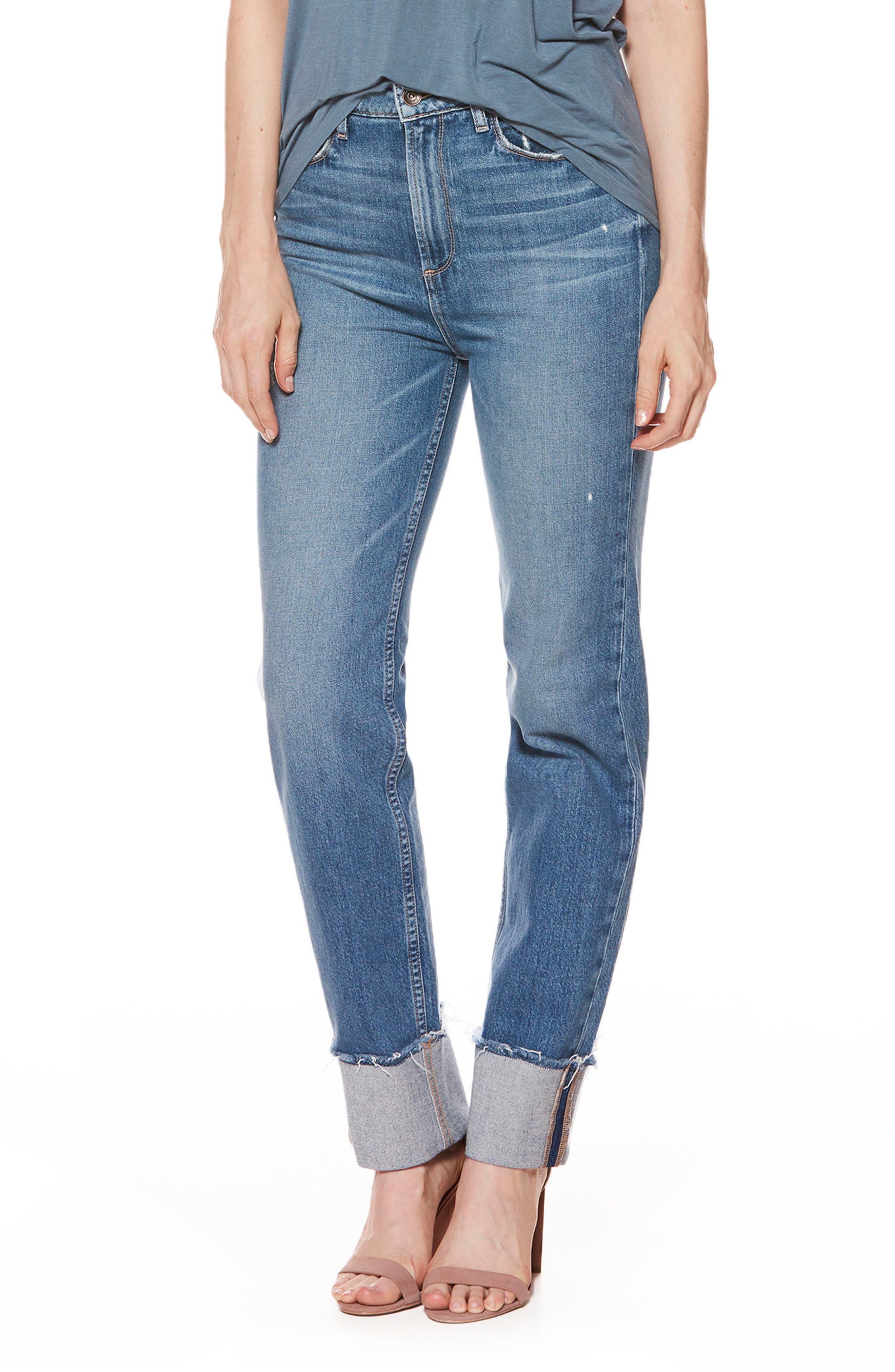 Main Image - PAIGE Sarah High Waist Straight Leg Jeans (Lorelai)