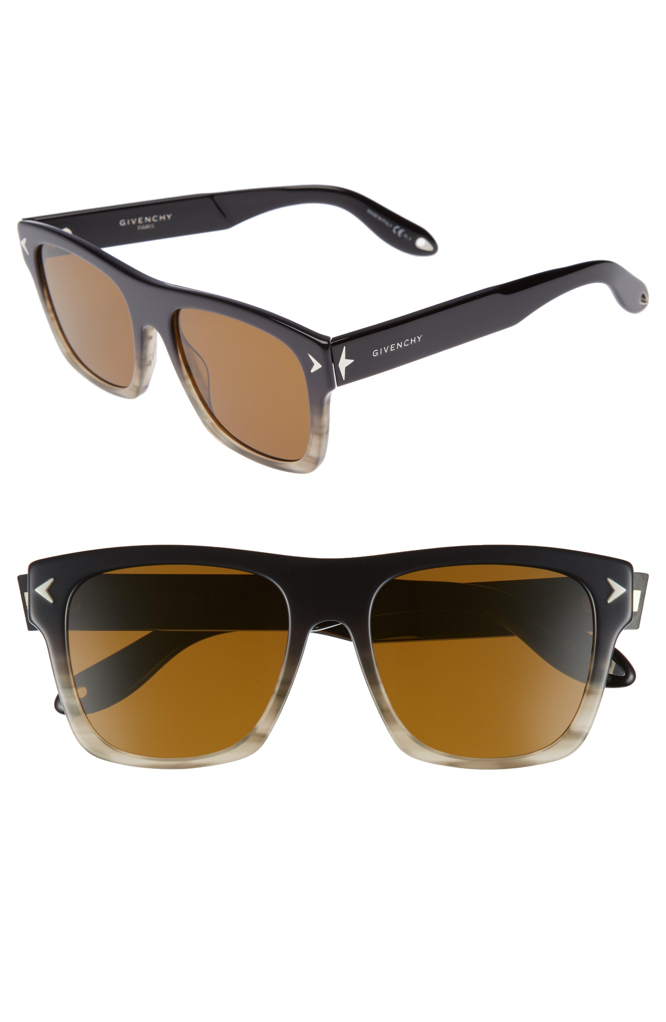 '7011/S' 55mm Sunglasses,                         Main,                         color, Gray Black/ Brown