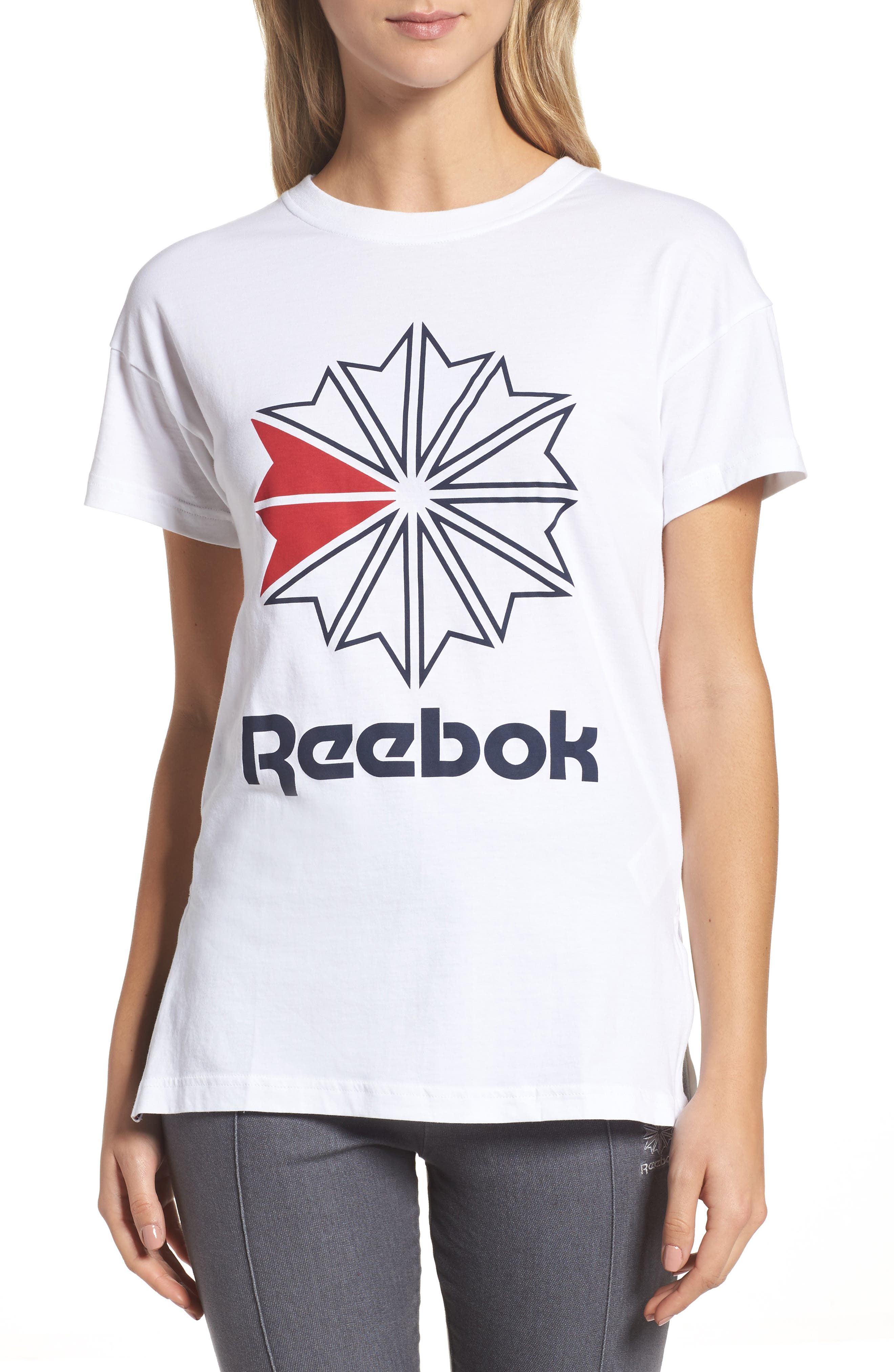 Alternate Image 1 Selected - Reebok Graphic Logo Tee