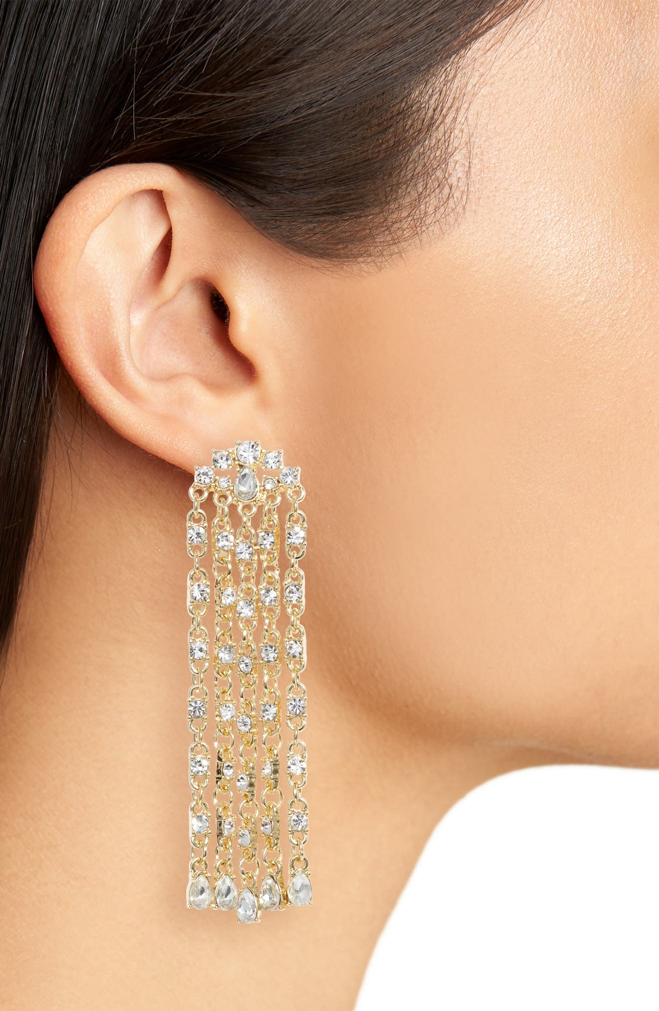 Alternate Image 2  - Stella + Ruby Waterfall Drop Earrings