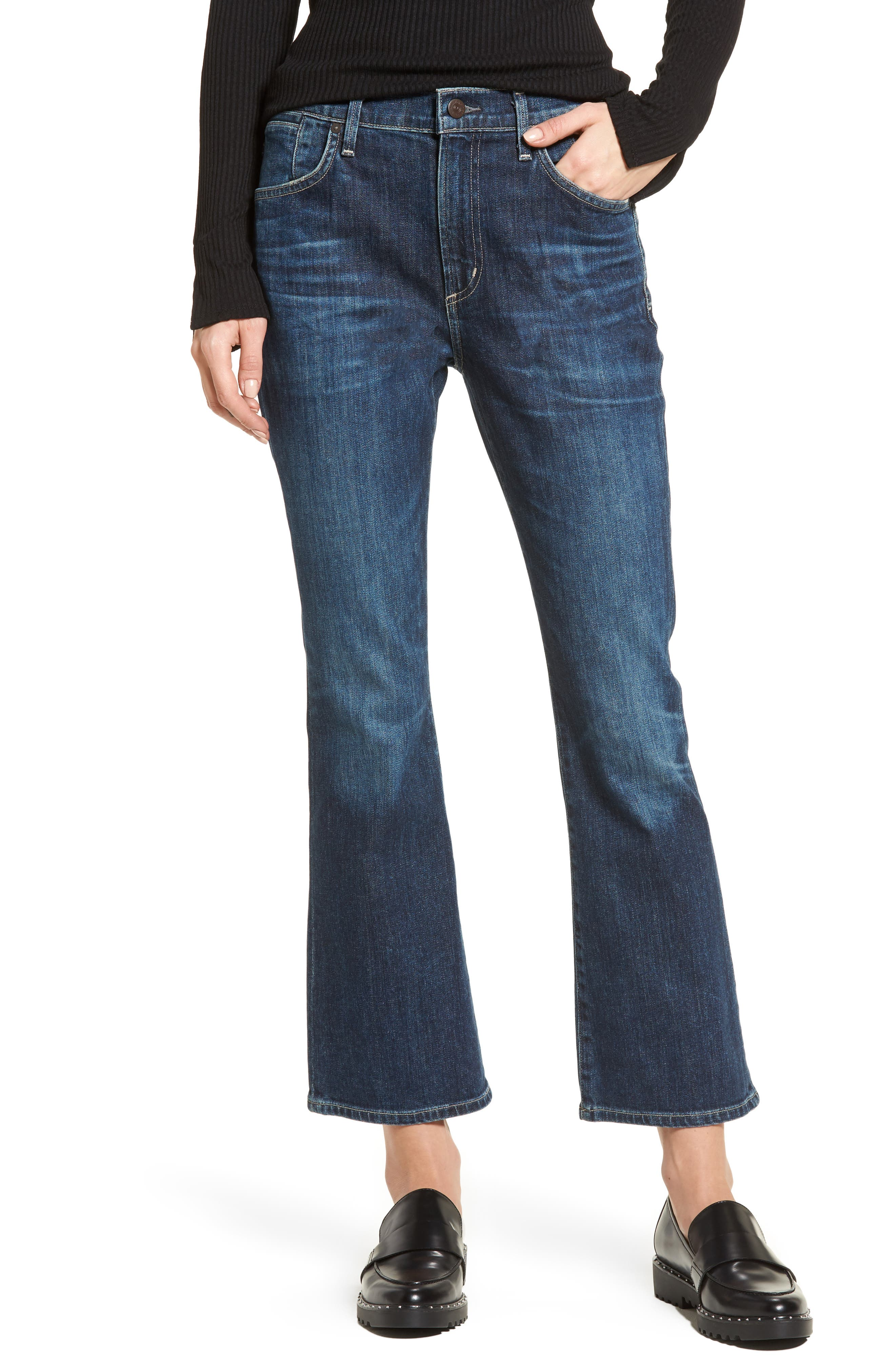 Fleetwood Crop Flare Jeans,                         Main,                         color, Sonora