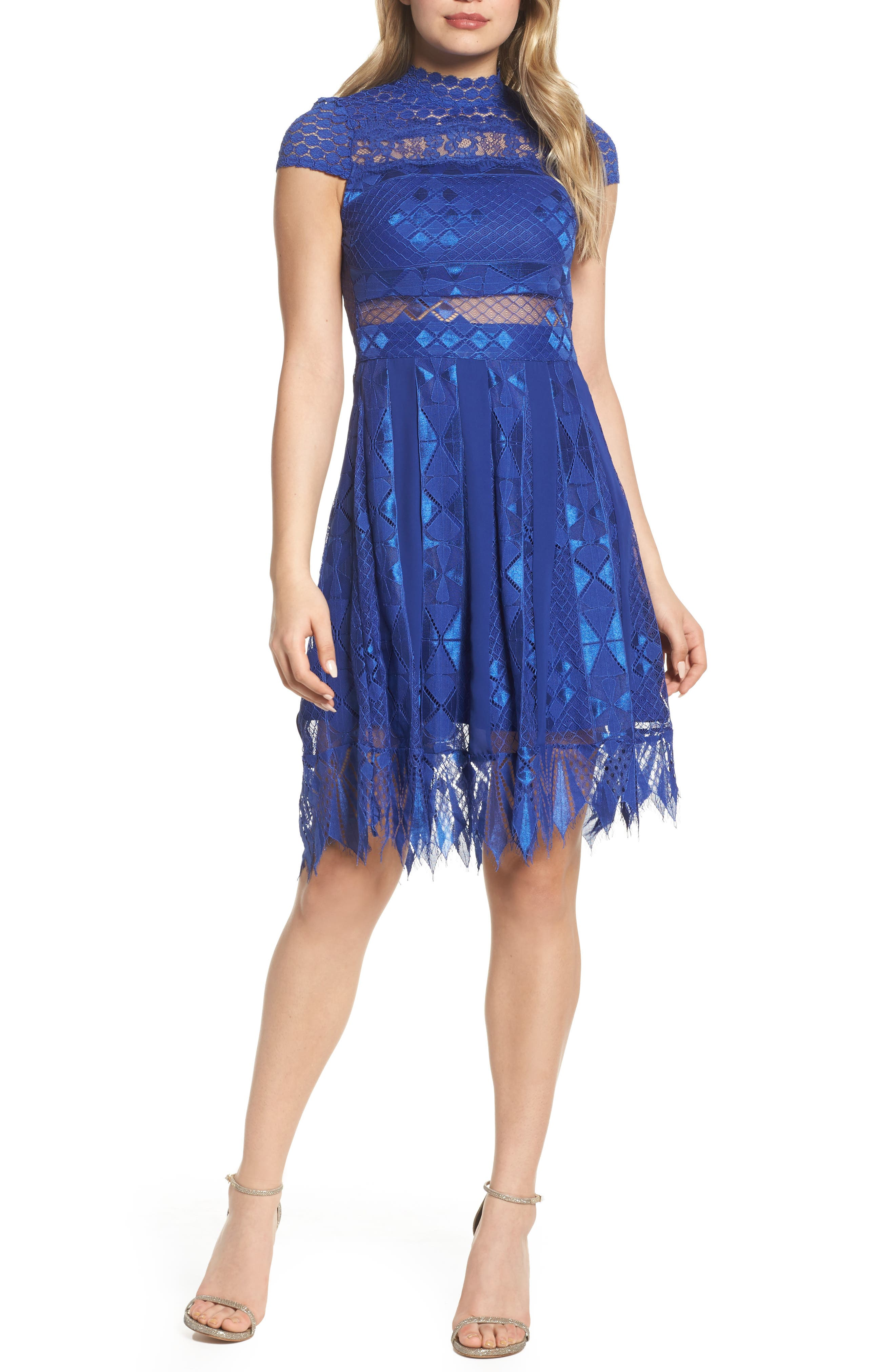 Foxiedox Bravo Zulu Lace Fit & Flare Dress