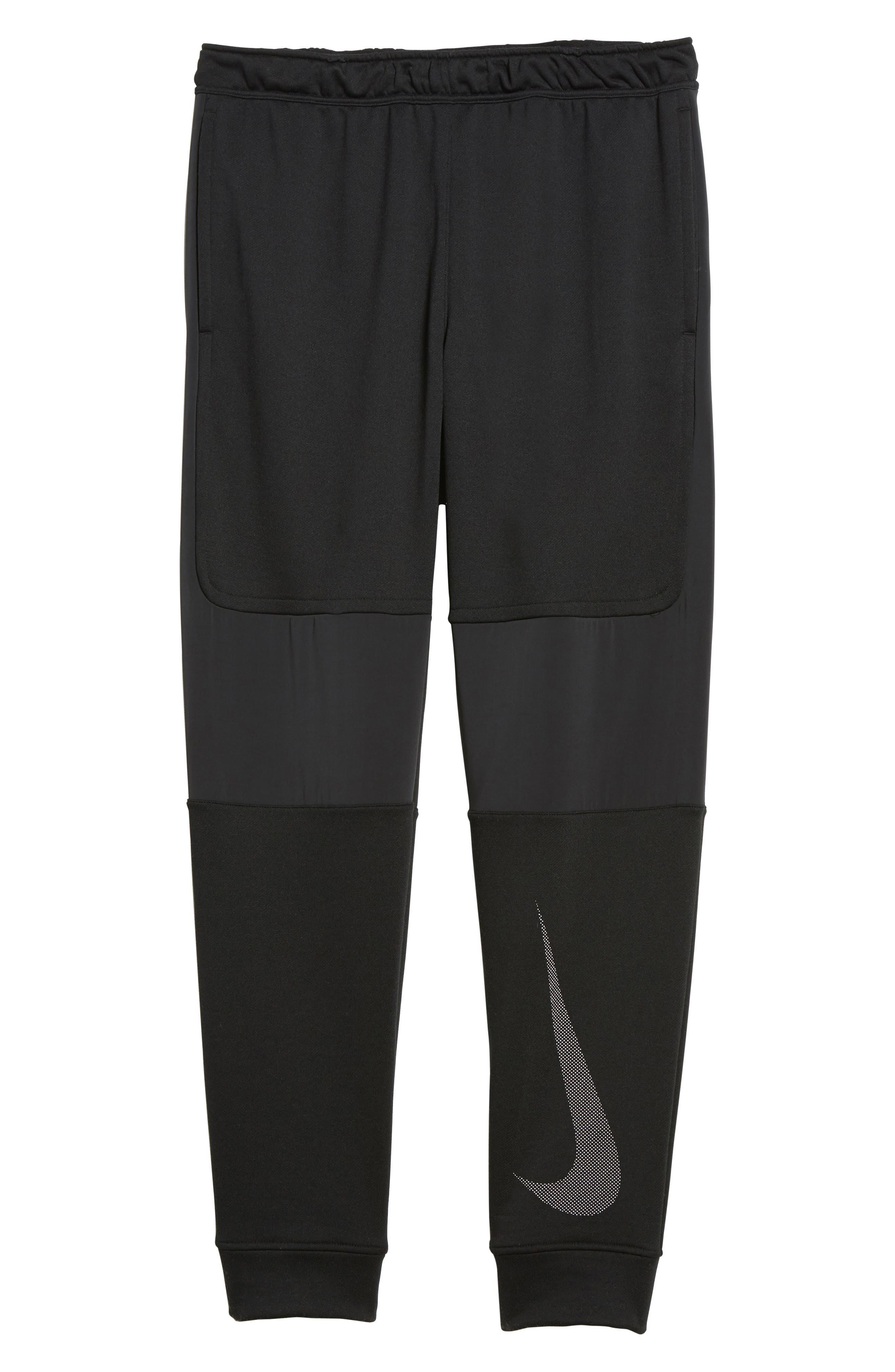 Training Project X Jogger Pants,                             Alternate thumbnail 6, color,                             Black/ Black/ White
