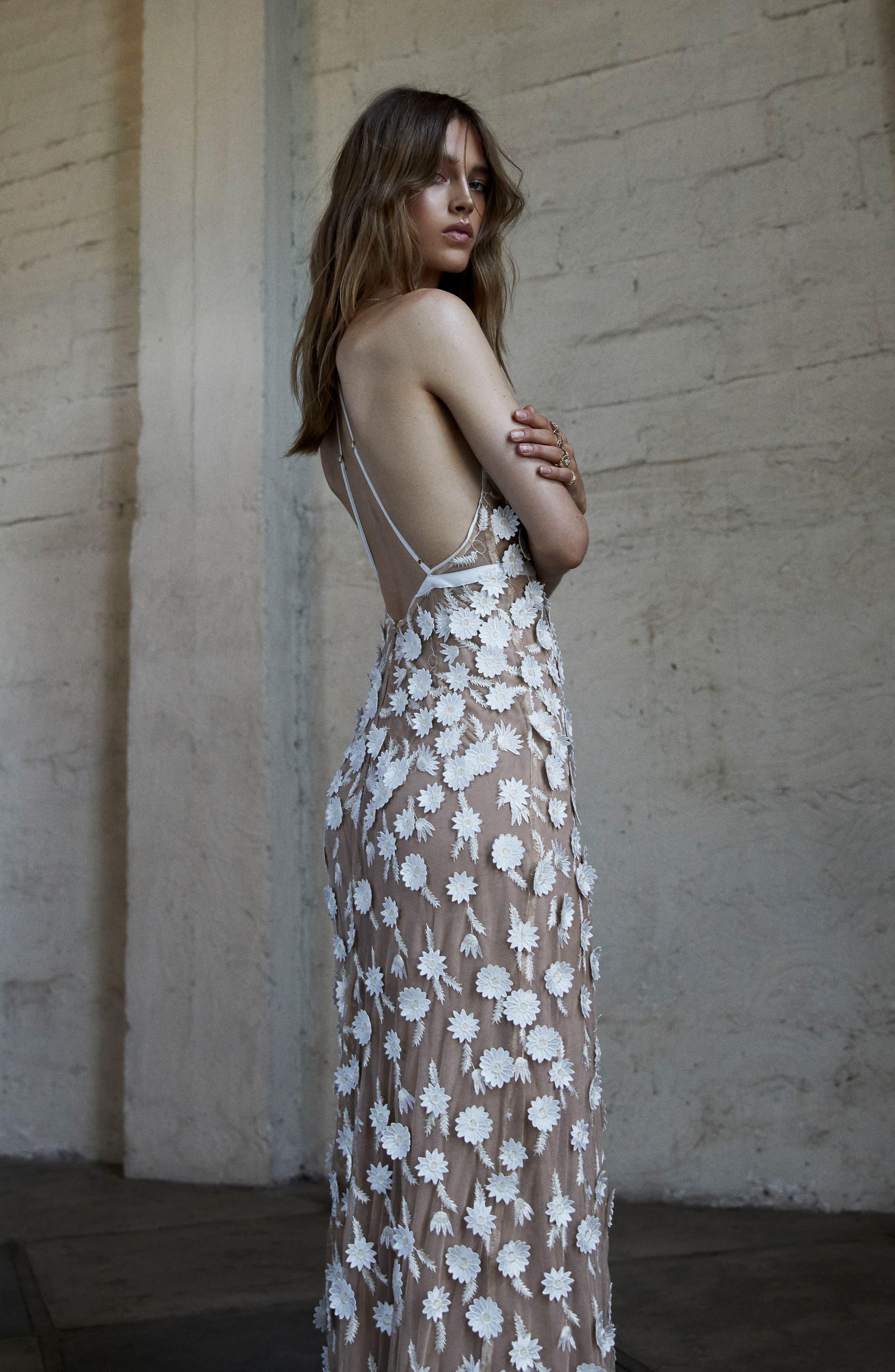 Alternate Image 4  - For Love & Lemons Marguerite Floral Petal Gown