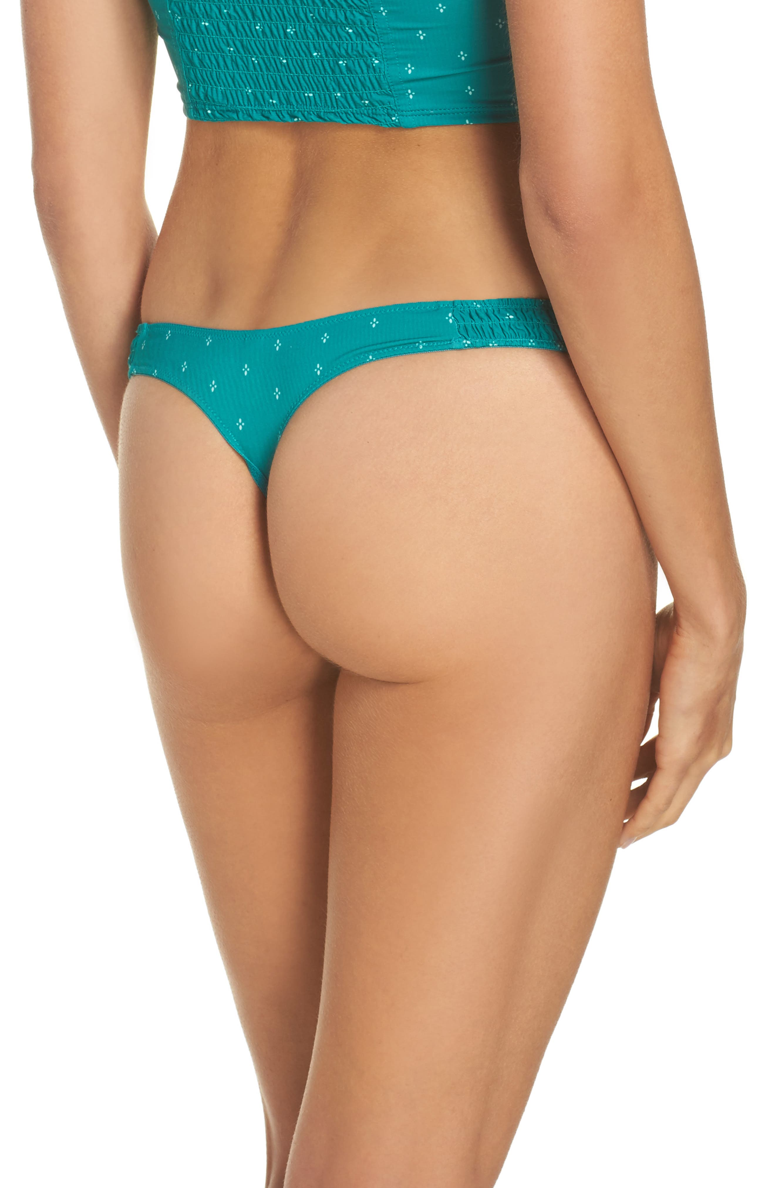 Intimately FP Come a Little Closure Thong,                             Alternate thumbnail 2, color,                             Green