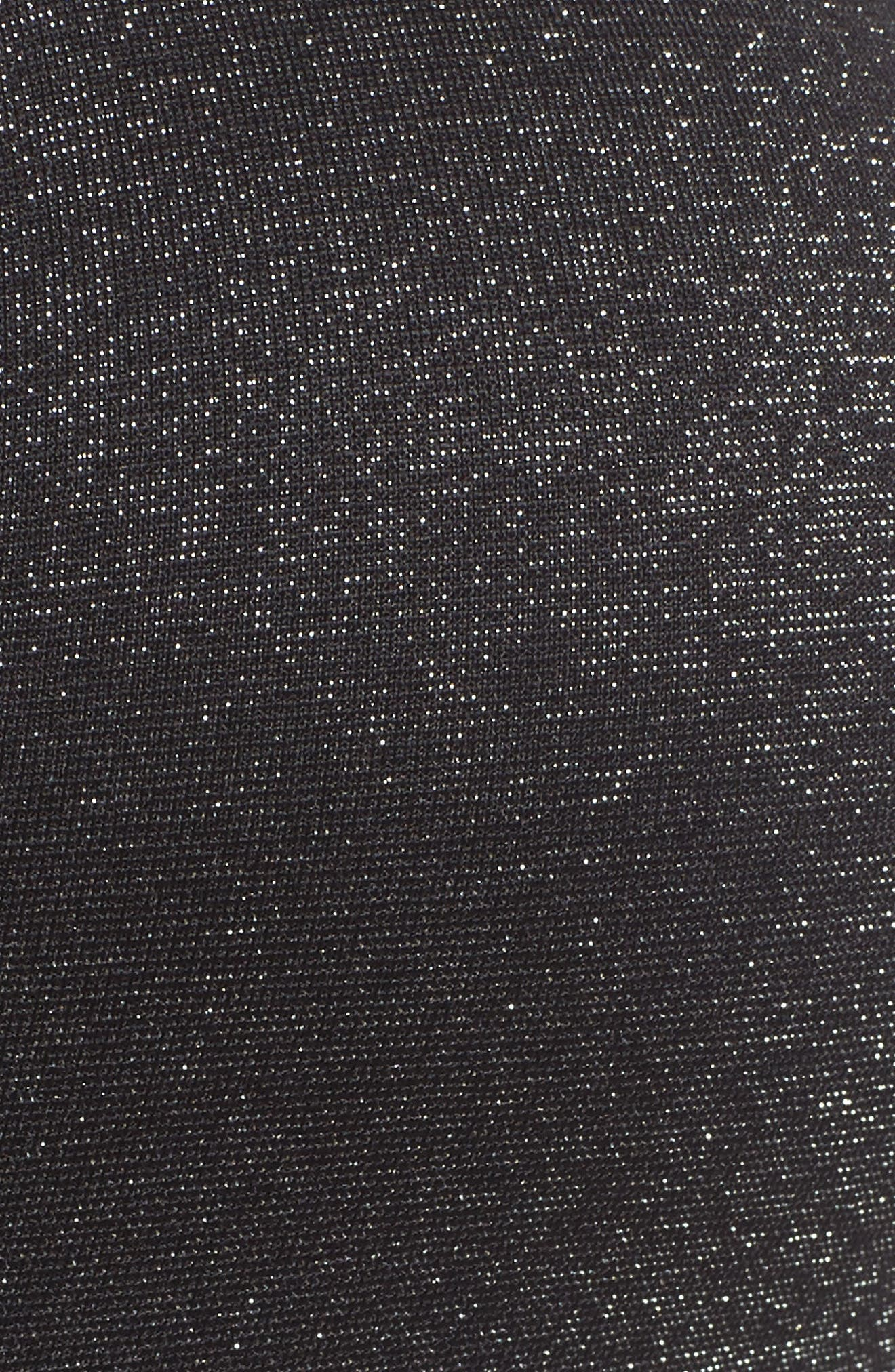Indy Sparkle Sports Bra,                             Alternate thumbnail 6, color,                             Black/ Metallic Silver/ White