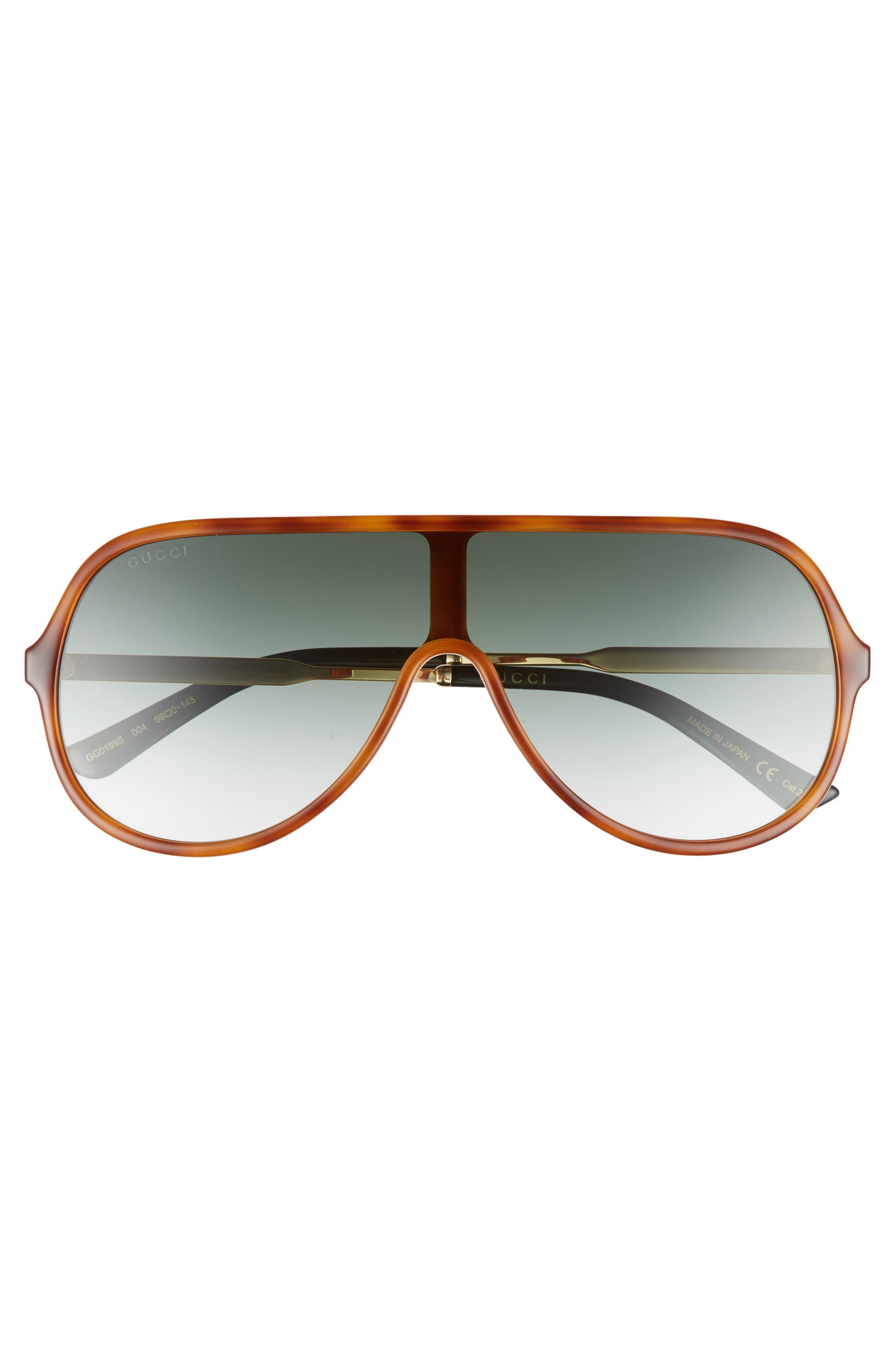 Alternate Image 2  - Gucci 99mm Oversize Shield Sunglasses