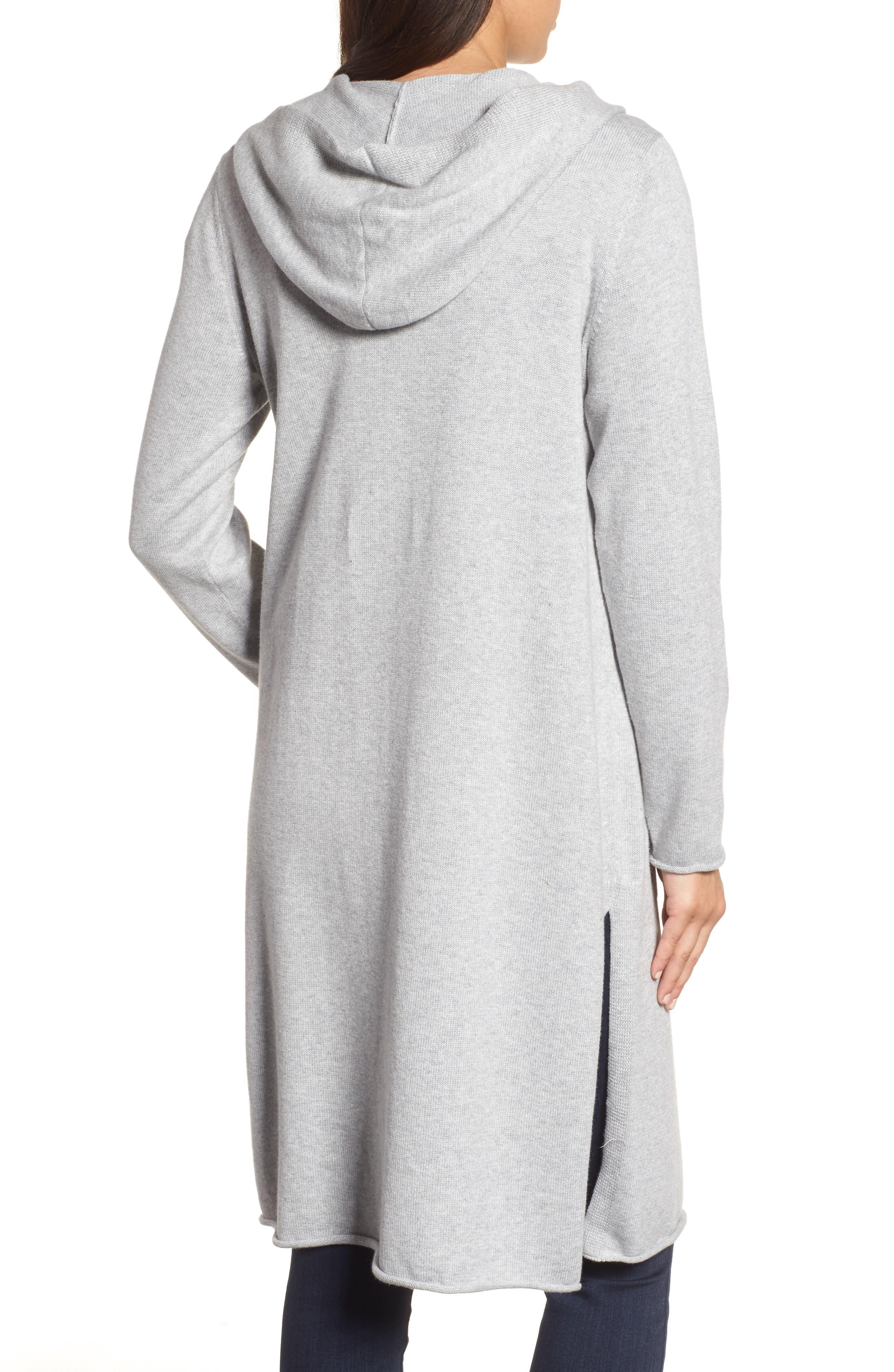 Alternate Image 2  - Eileen Fisher Organic Cotton Hooded Cardigan