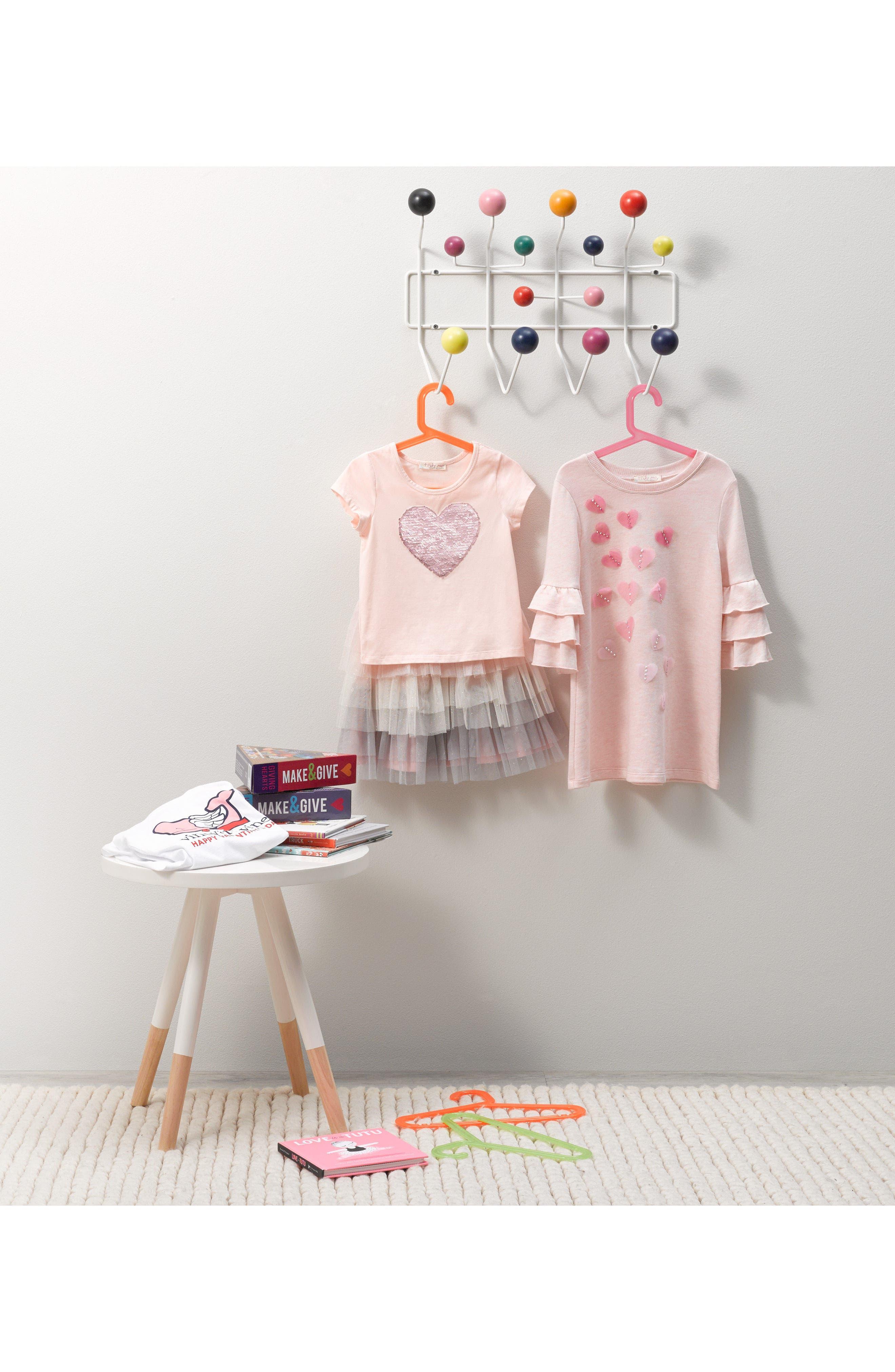 Alternate Image 3  - Truly Me Flip Sequin Heart Tee (Toddler Girls & Little Girls)