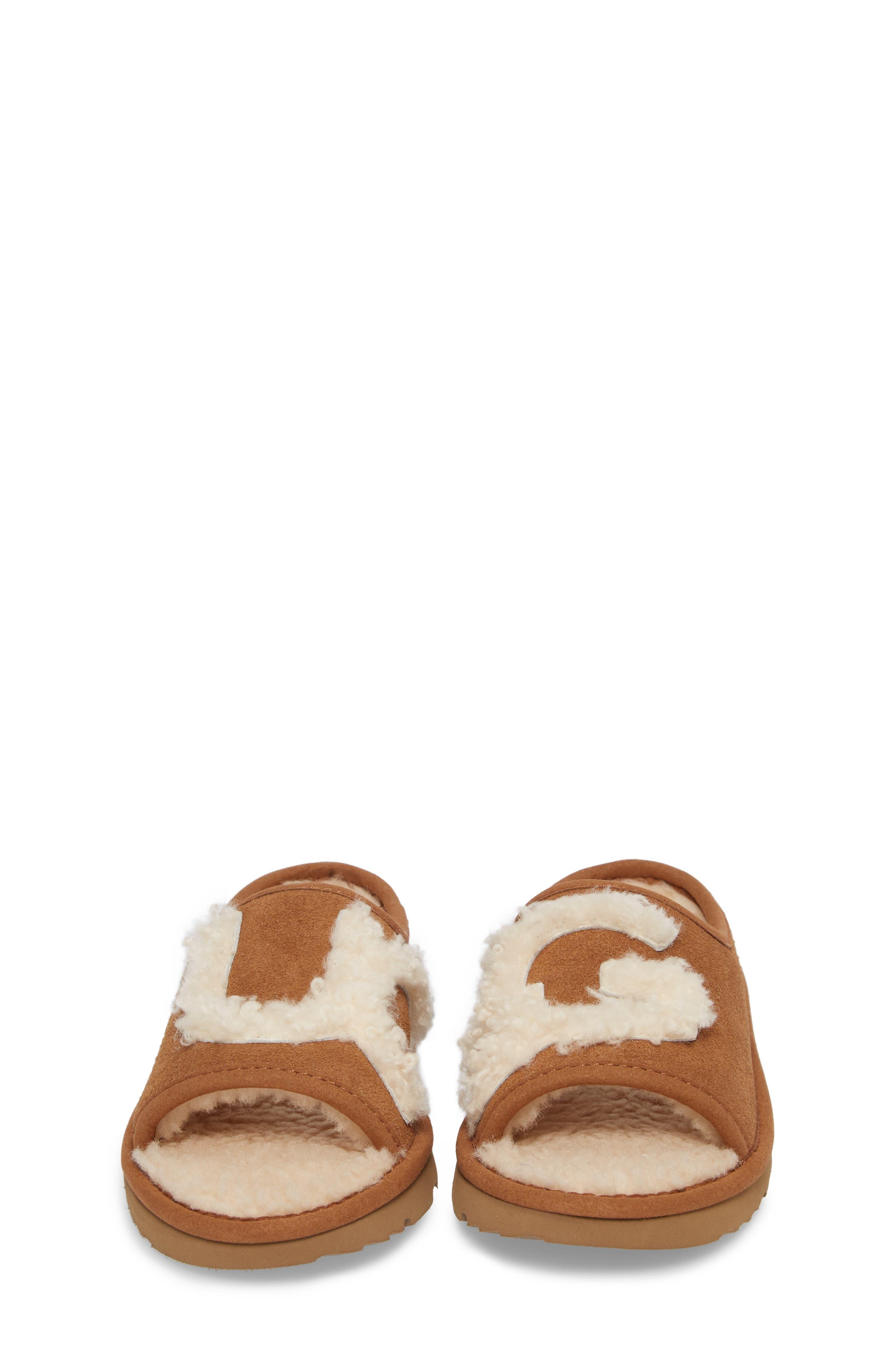 Alternate Image 4  - UGG® Logo Slide Sandal (Walker, Toddler, Little Kid & Big Kid)