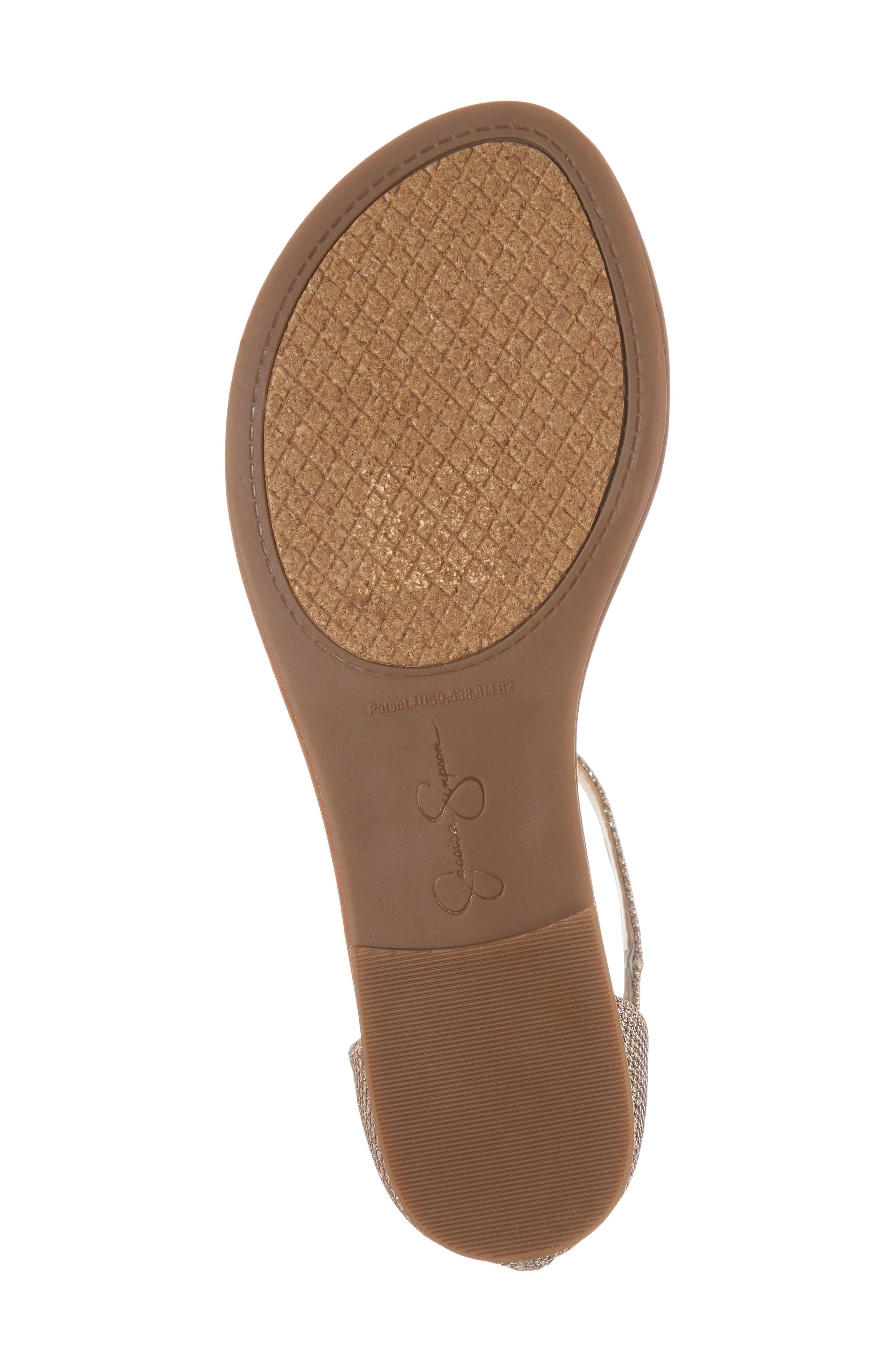 Kenton Crystal Embellished Sandal,                             Alternate thumbnail 6, color,                             Gold