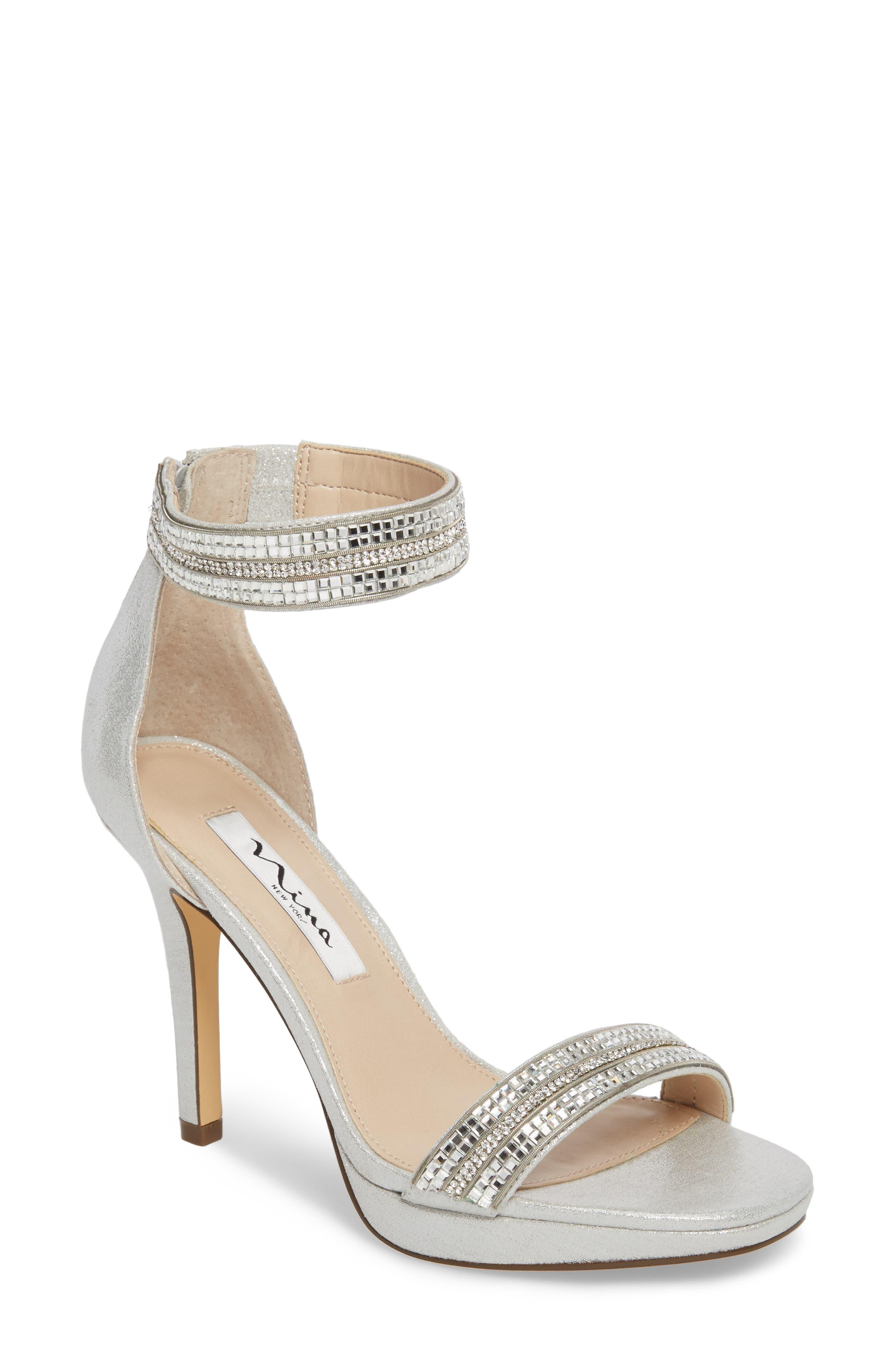 Main Image - Nina Aubrie Ankle Strap Sandal (Women)