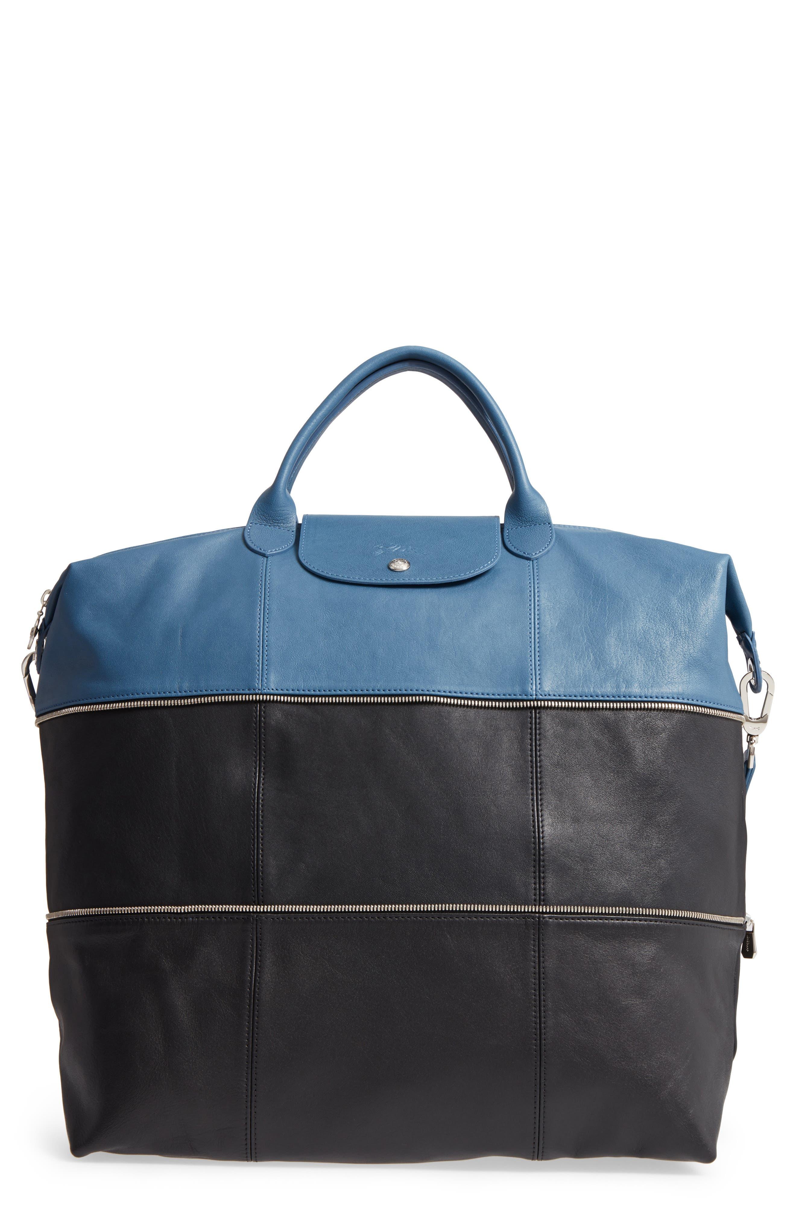 Longchamp Ruban d'Or Expandable Leather Travel Bag