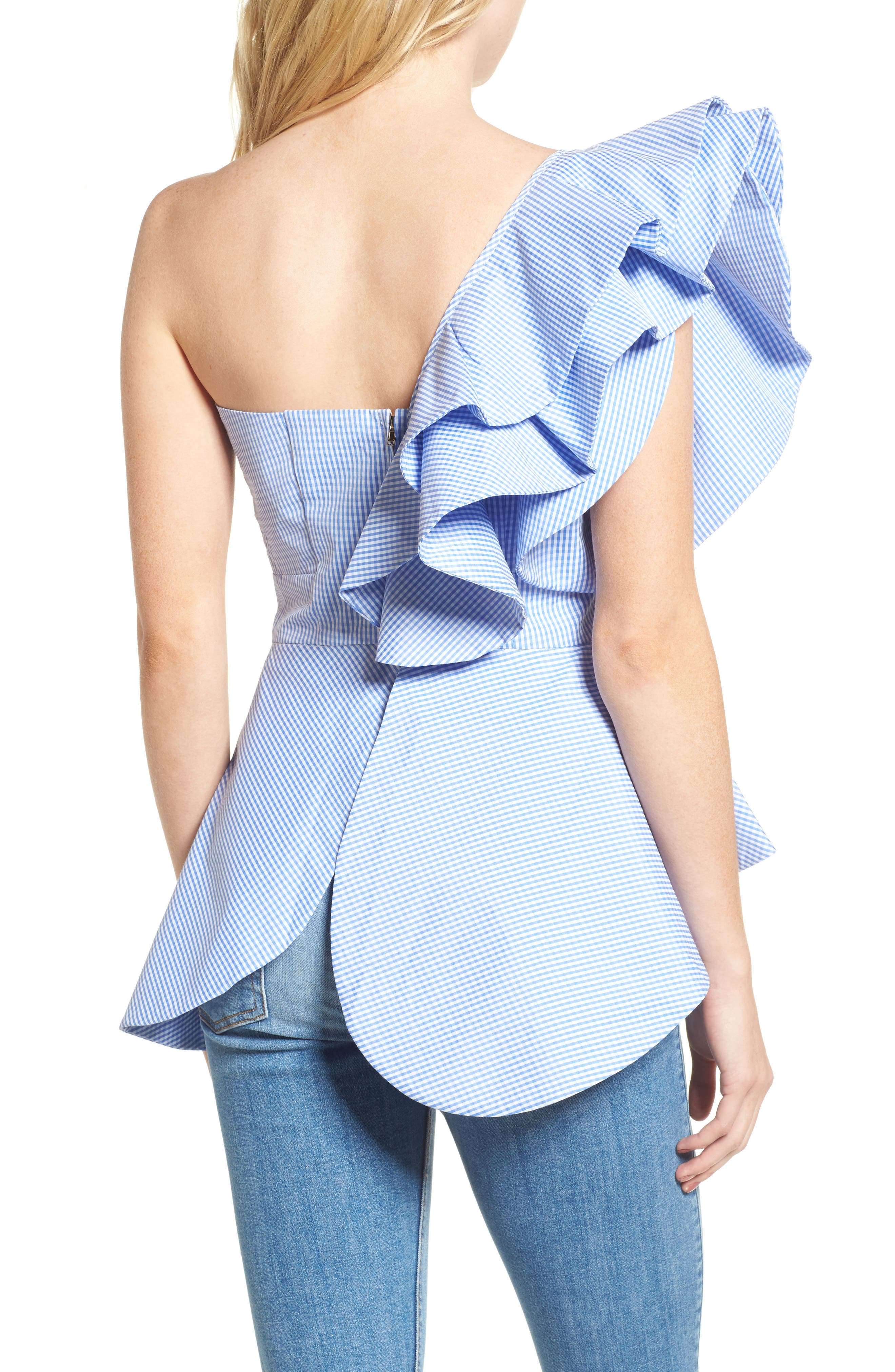 Alternate Image 2  - StyleKeepers Private Cruise One-Shoulder Top