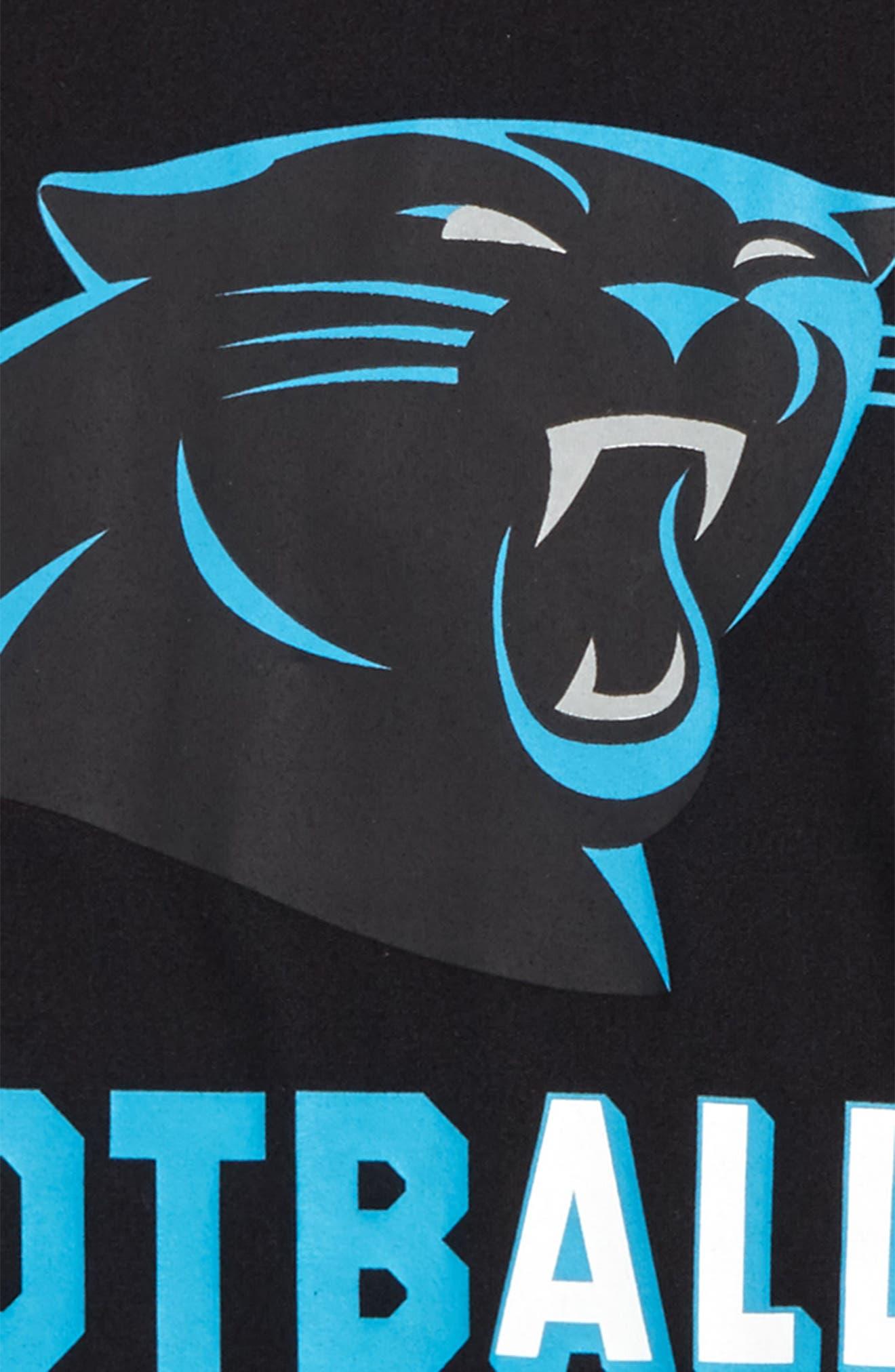 Nike NFL Logo - Carolina Panthers Dry T-Shirt,                             Alternate thumbnail 2, color,                             Black