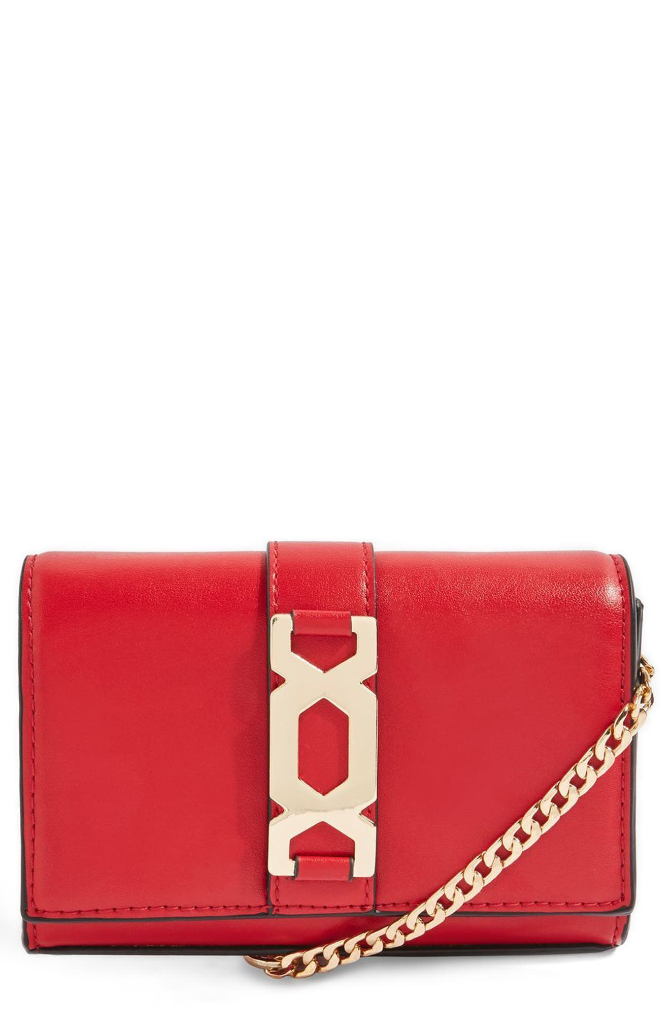 Rome Hex Hardware Crossbody Bag,                         Main,                         color, Red