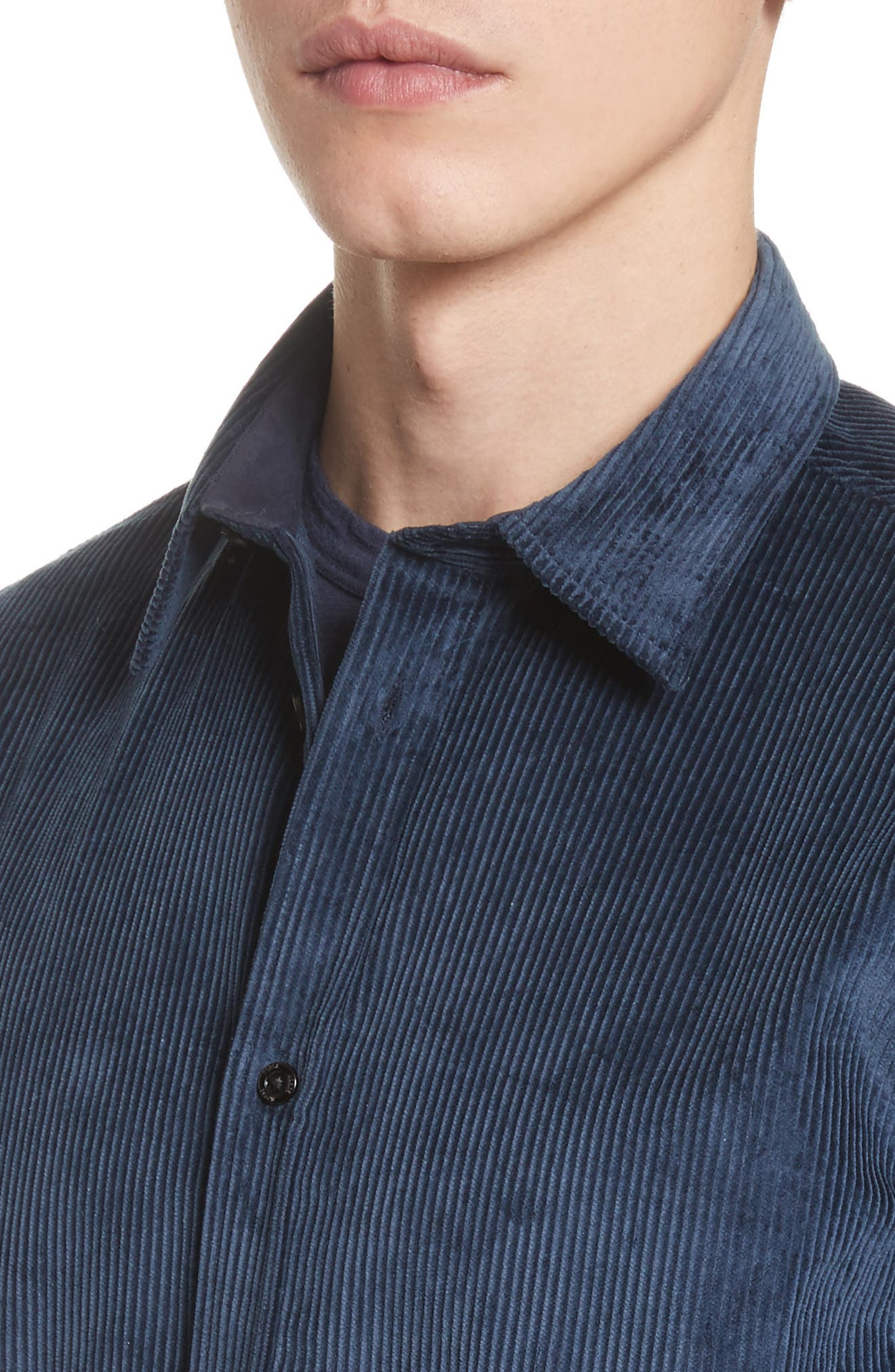 Hans Corduroy Shirt,                             Alternate thumbnail 2, color,                             Petrol Blue