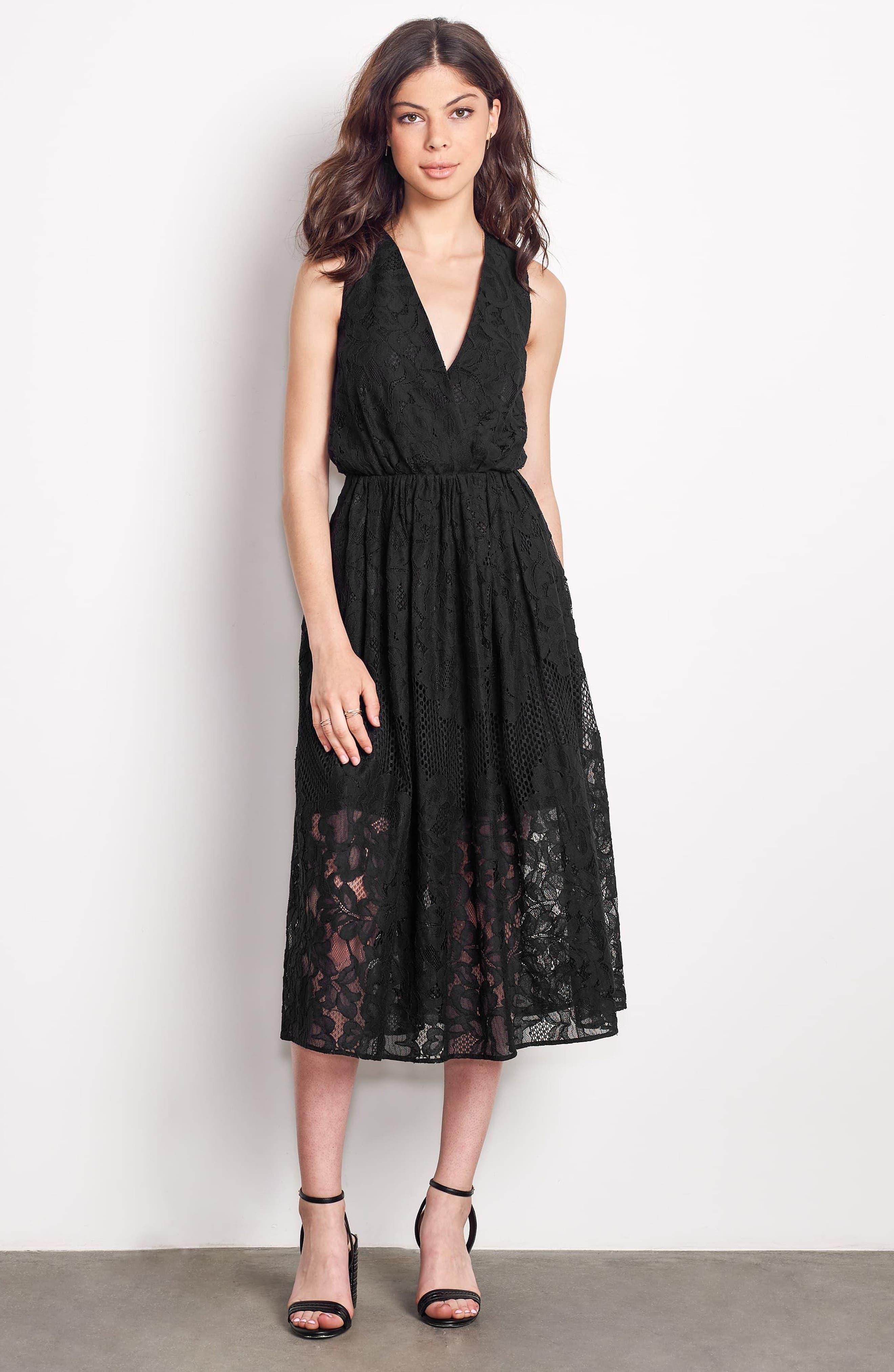 Alternate Image 2  - Ali & Jay Palais Royal Lace A-Line Dress