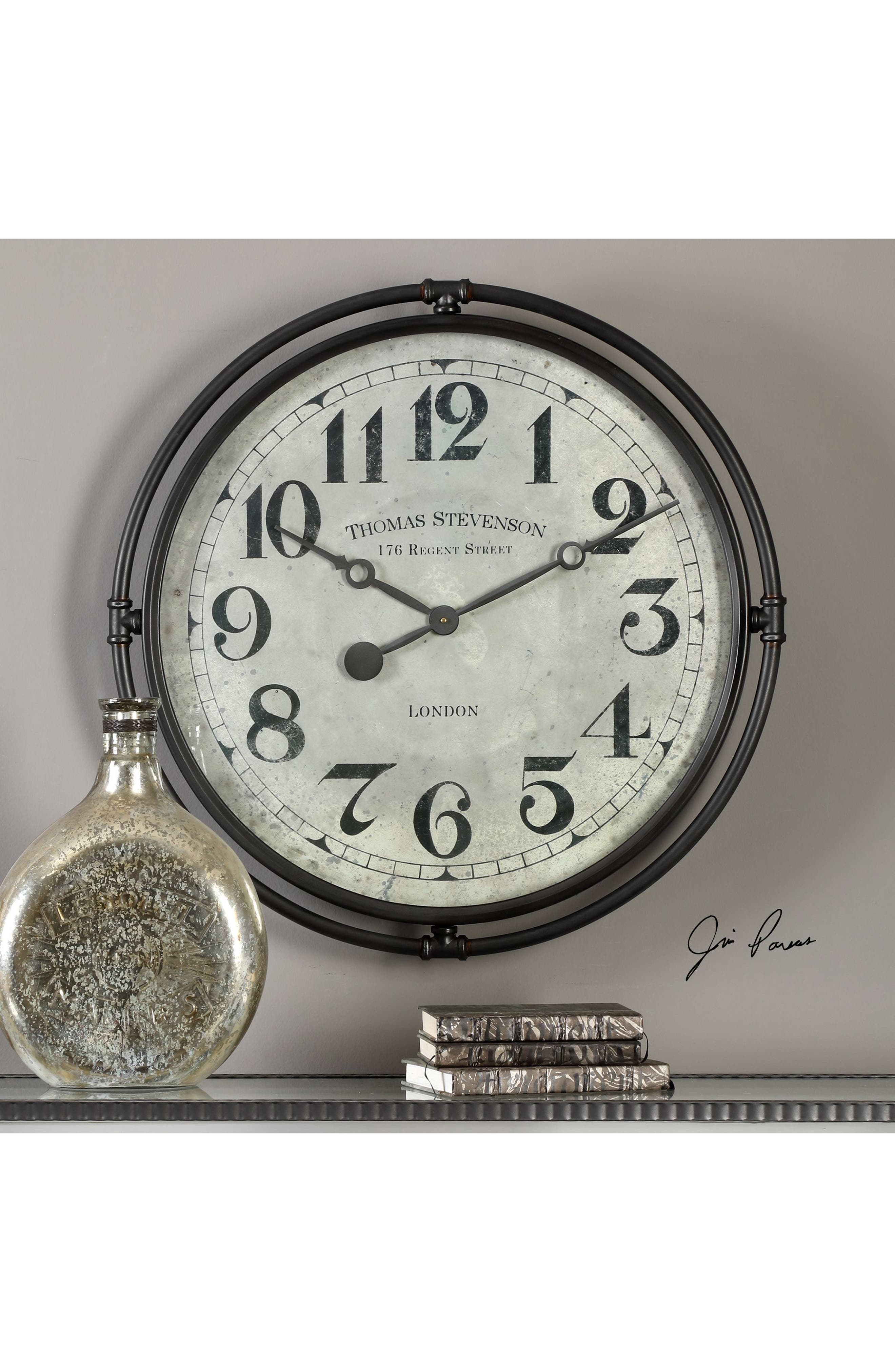 Alternate Image 2  - Uttermost Nakul Wall Clock