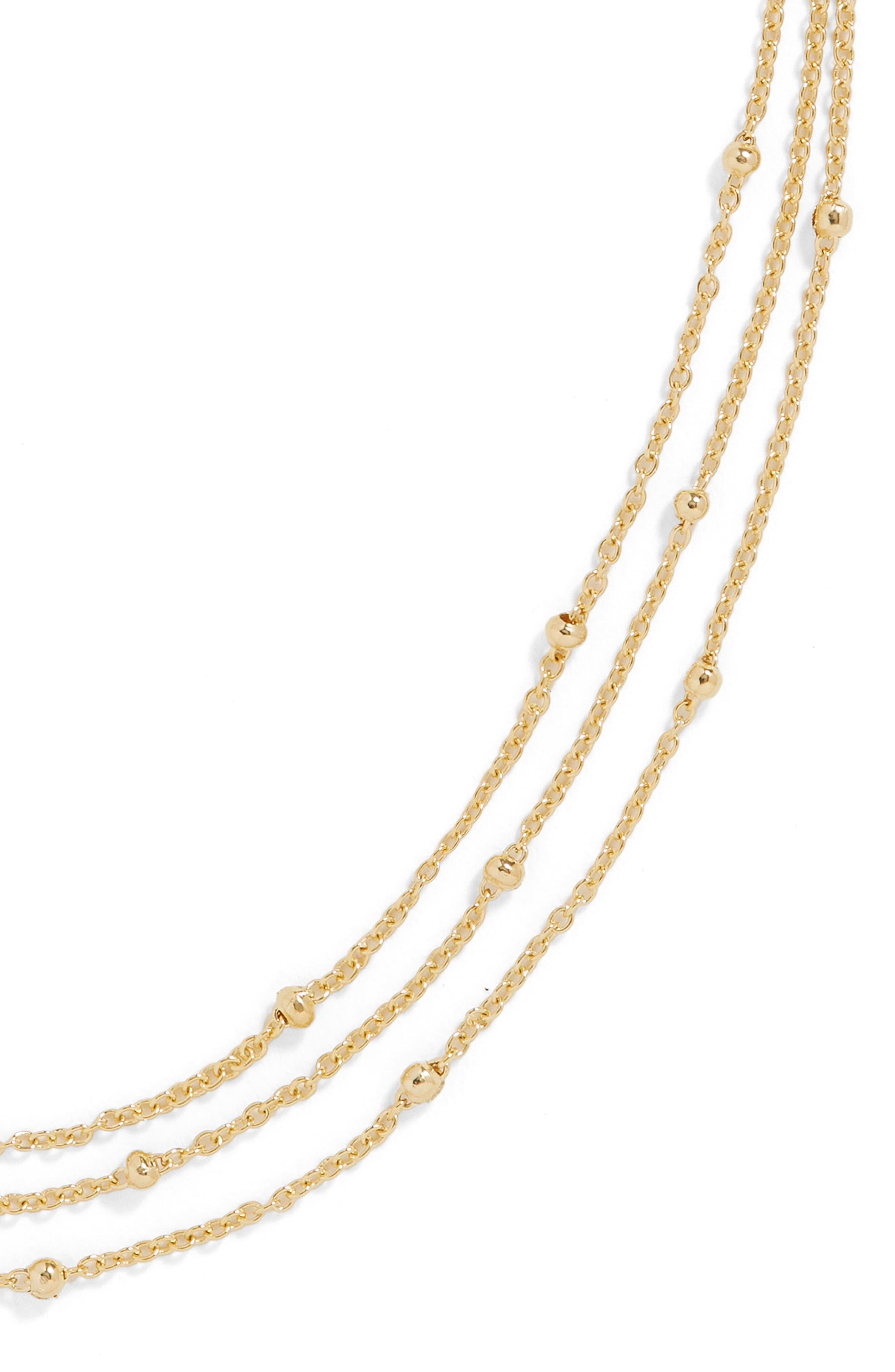 Fiamma Everyday Triple Strand Vermeil Necklace,                             Alternate thumbnail 2, color,                             Gold