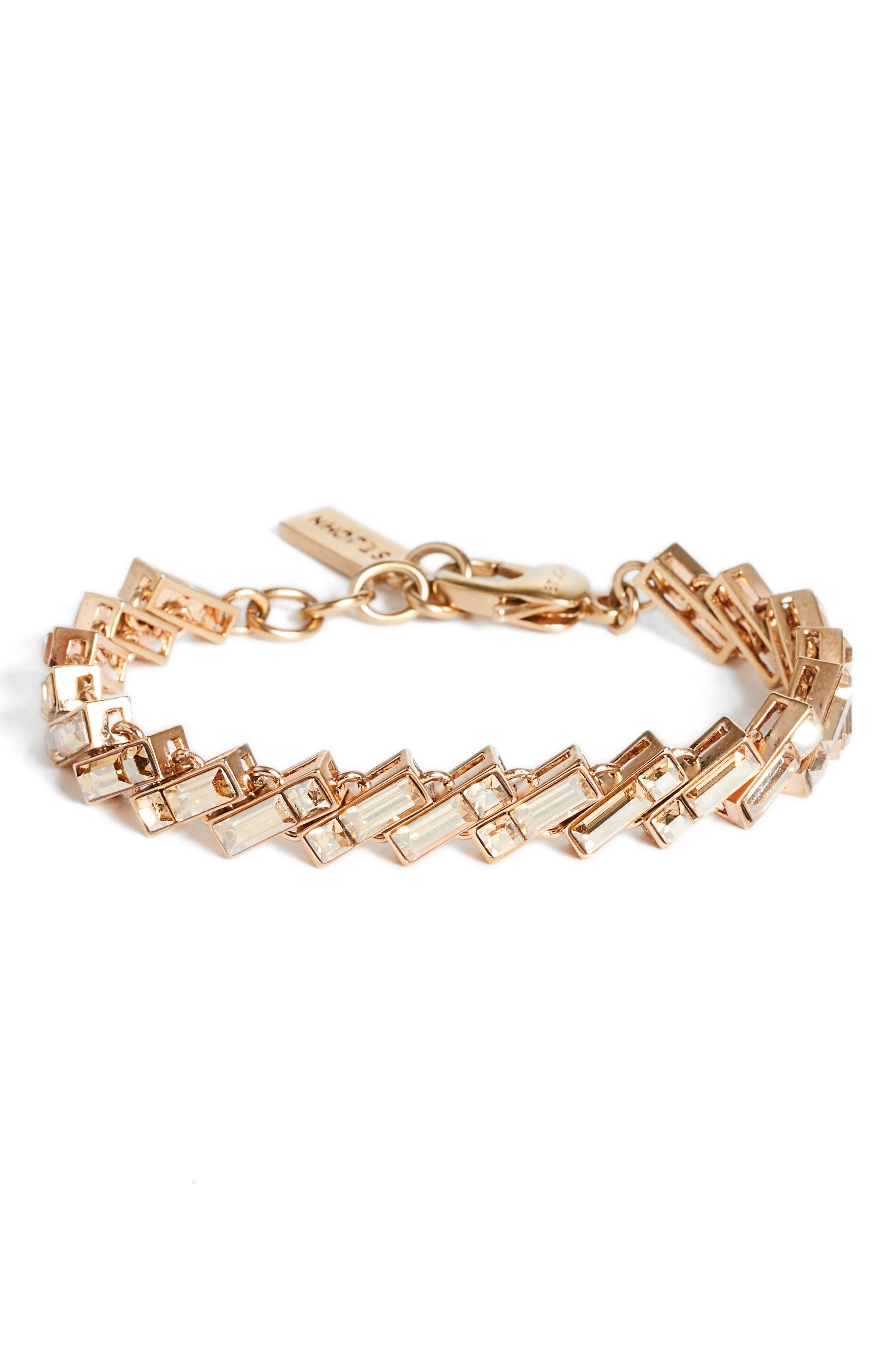 Swarovski Crystal Bracelet,                         Main,                         color, Rhodium/ Crystal