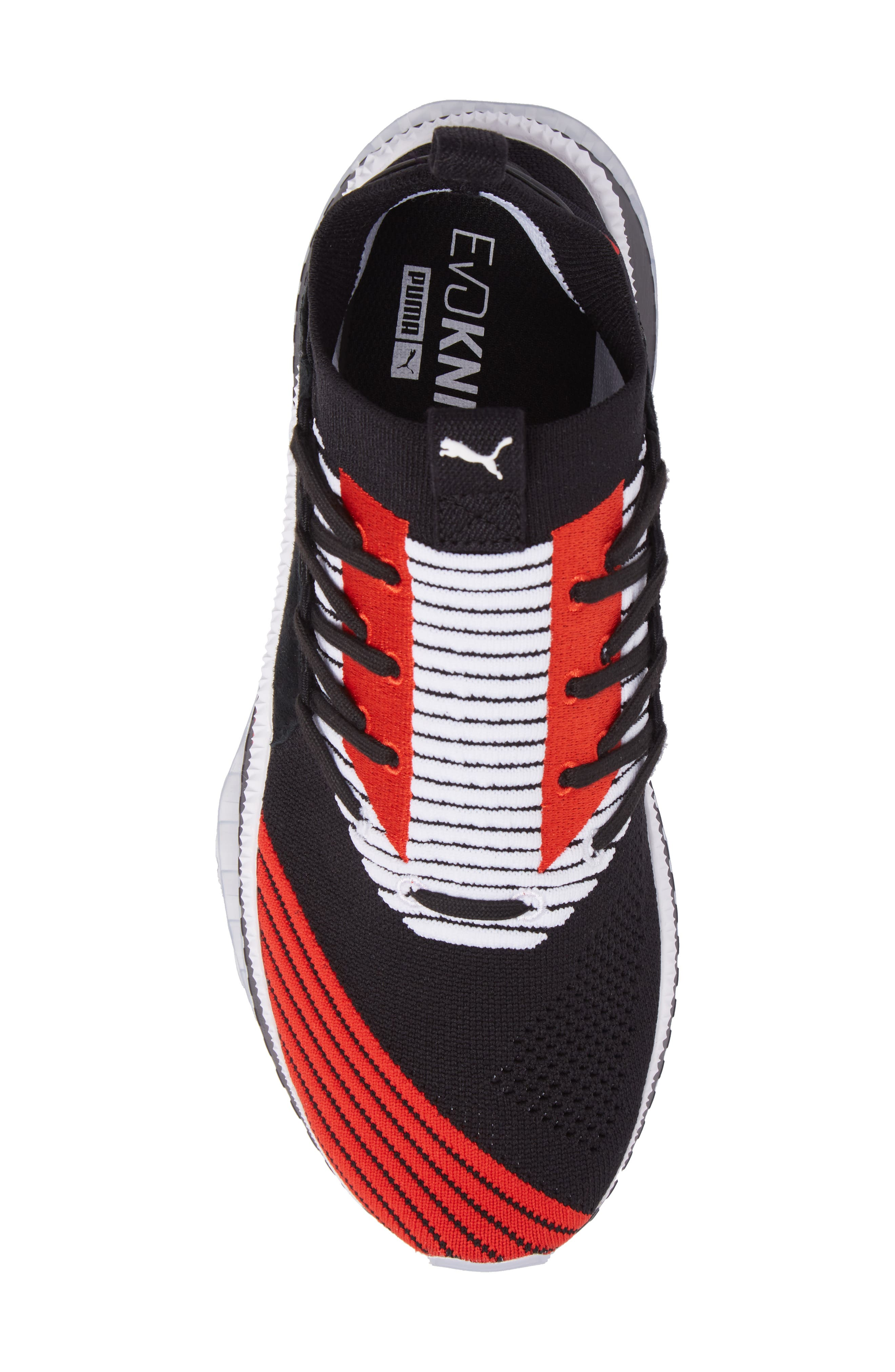 Tsugi Shinsei UT Odyssey Sneaker,                             Alternate thumbnail 5, color,                             Black/White/Flame Scarlet