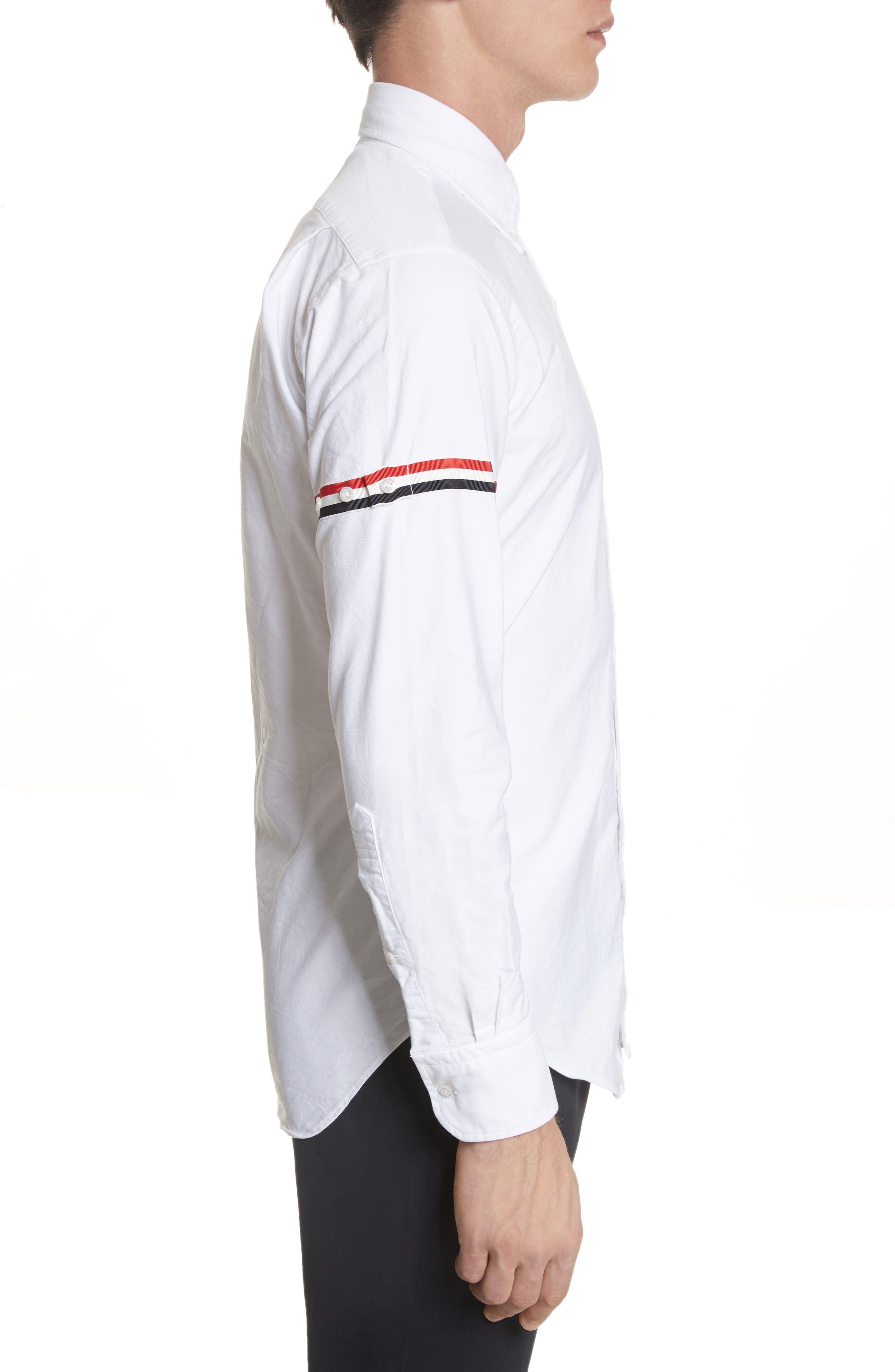 Oxford Shirt,                             Alternate thumbnail 4, color,                             White