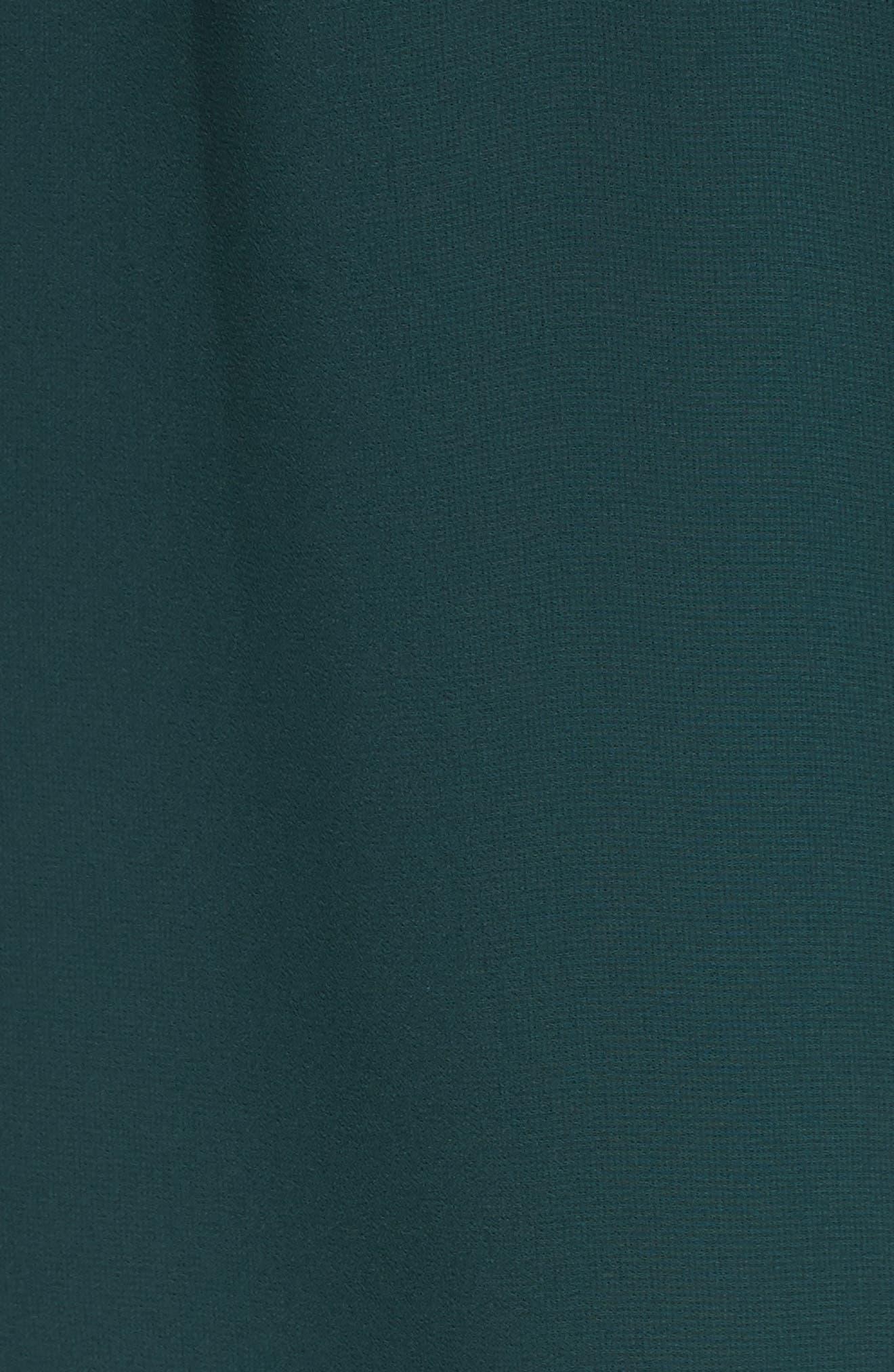 Near Death Ruffle Shirtdress,                             Alternate thumbnail 5, color,                             Pine