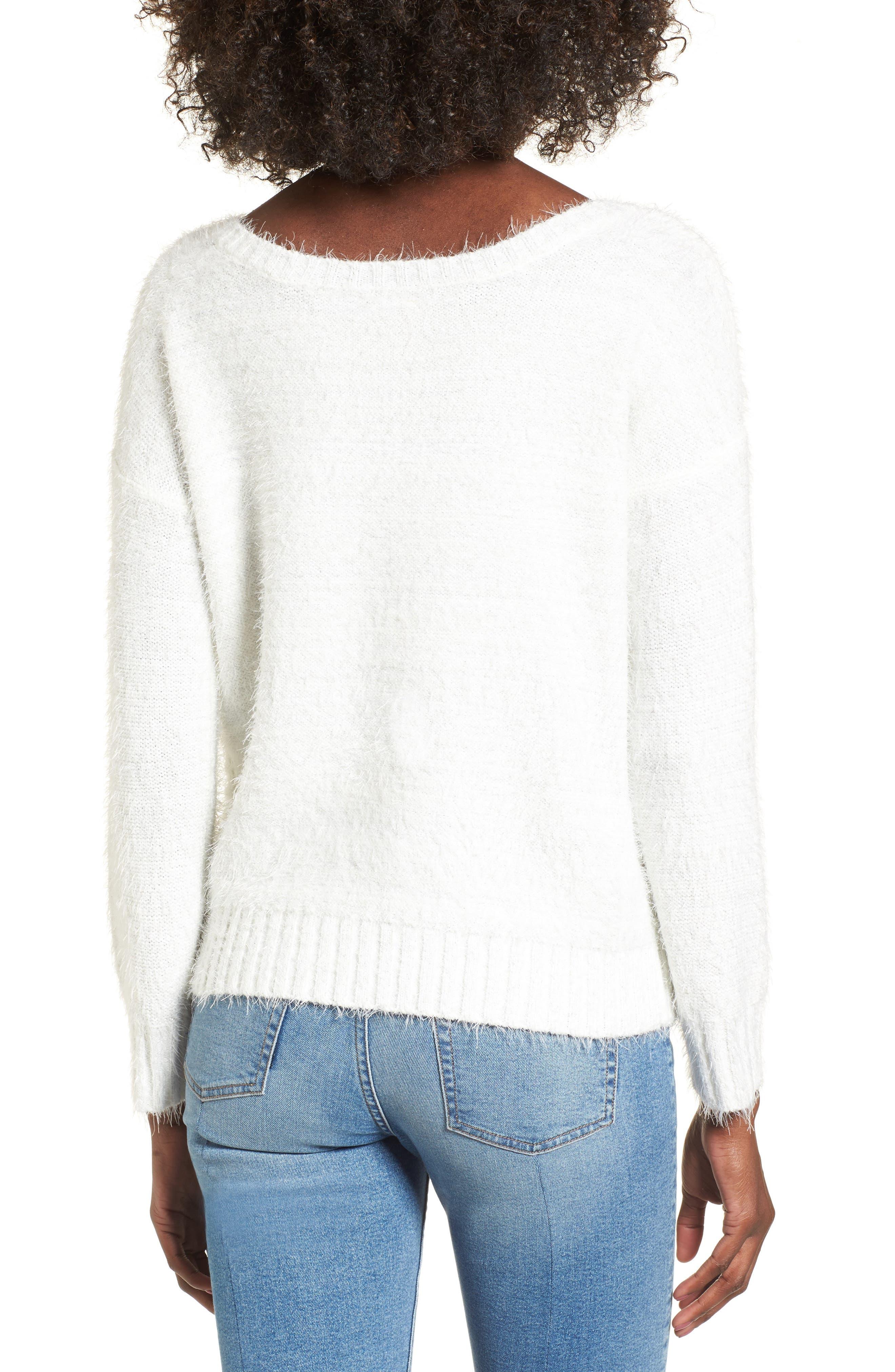 Alternate Image 2  - Raga Emily Eyelash Knit Sweater