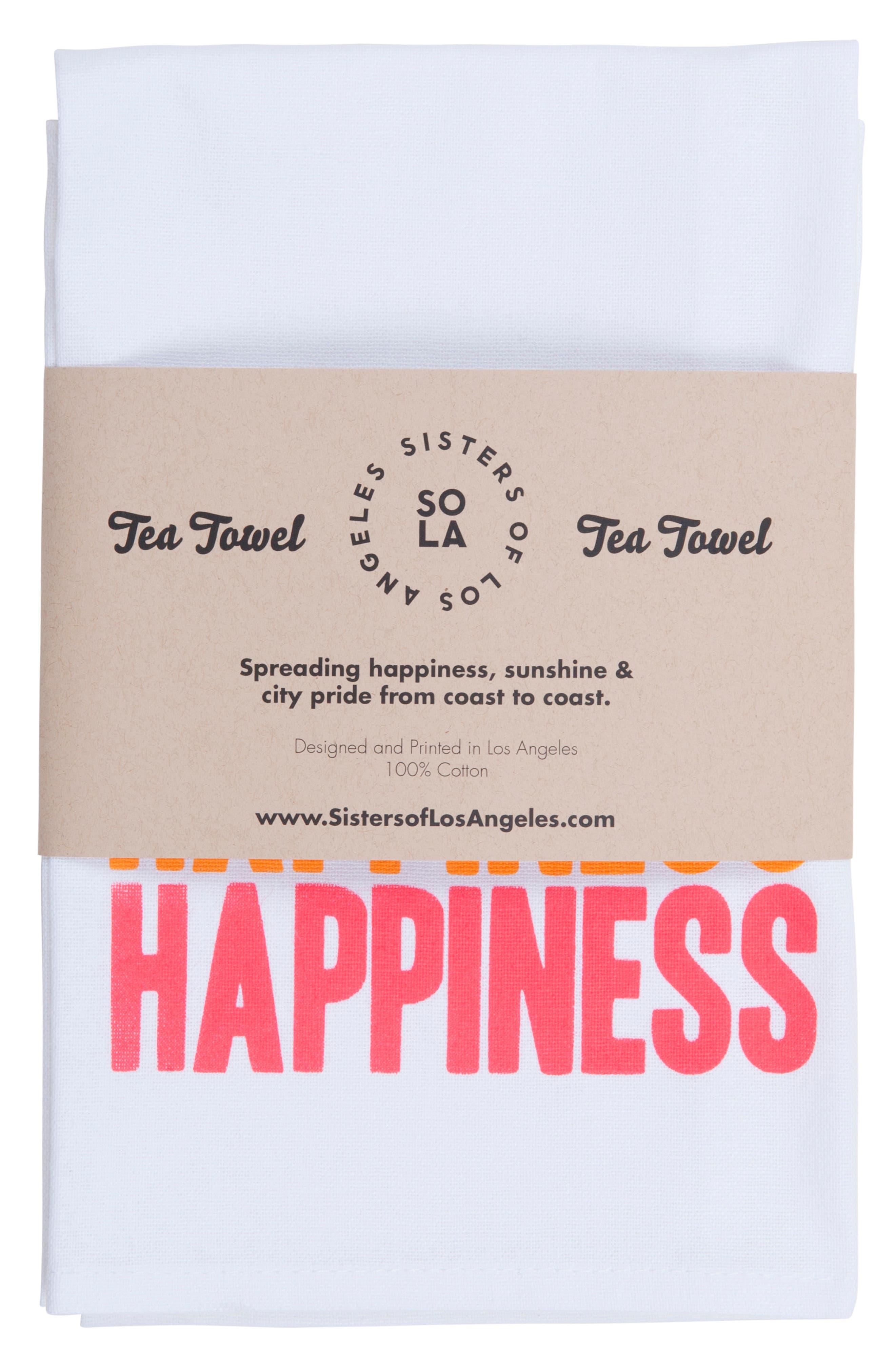 Alternate Image 2  - Sisters of Los Angeles Peace Love Happiness Set of 3 Tea Towels