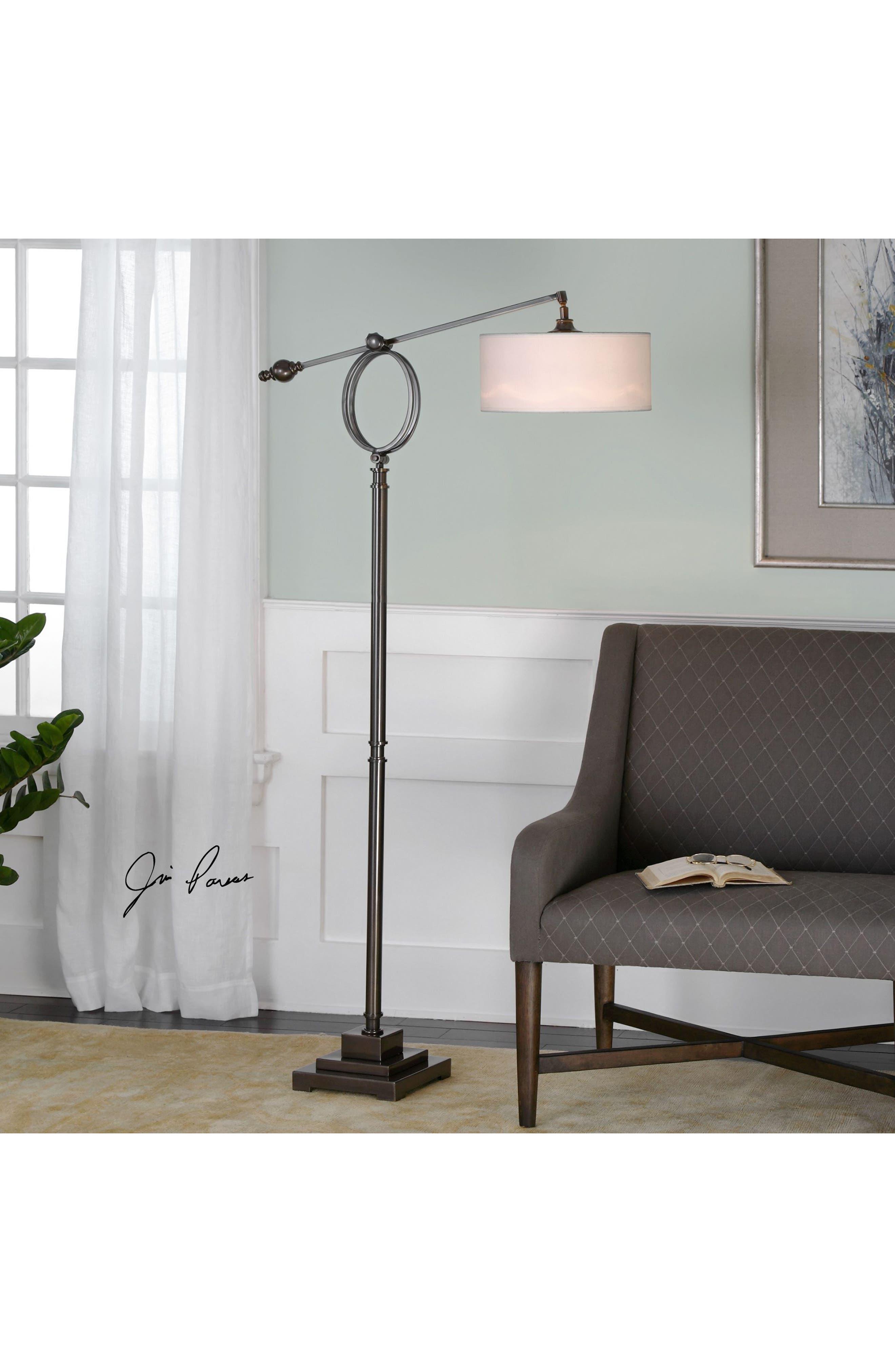 Levisa Floor Lamp,                             Alternate thumbnail 2, color,                             Brown