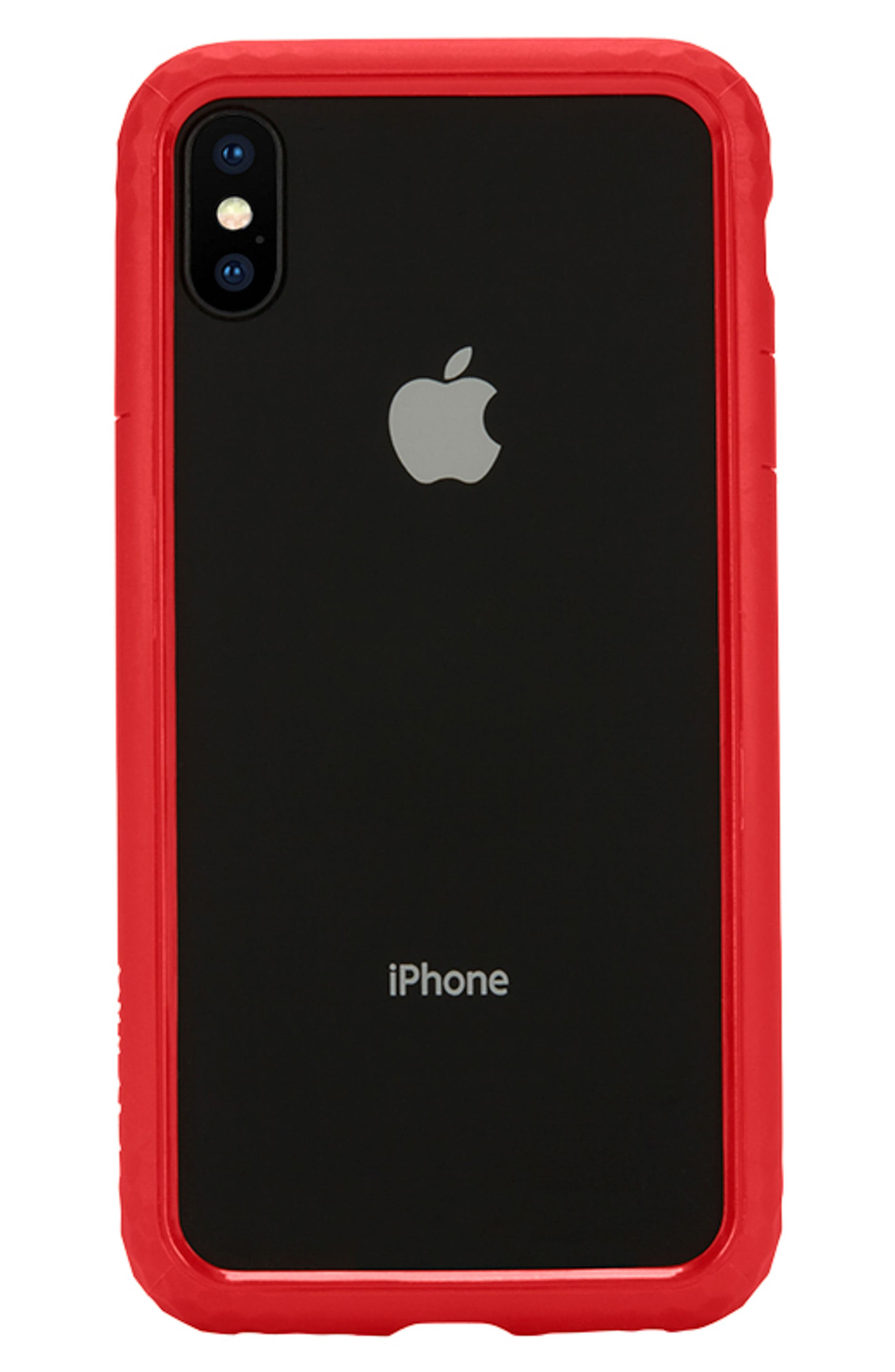 Frame iPhone X Case,                             Alternate thumbnail 6, color,                             Red