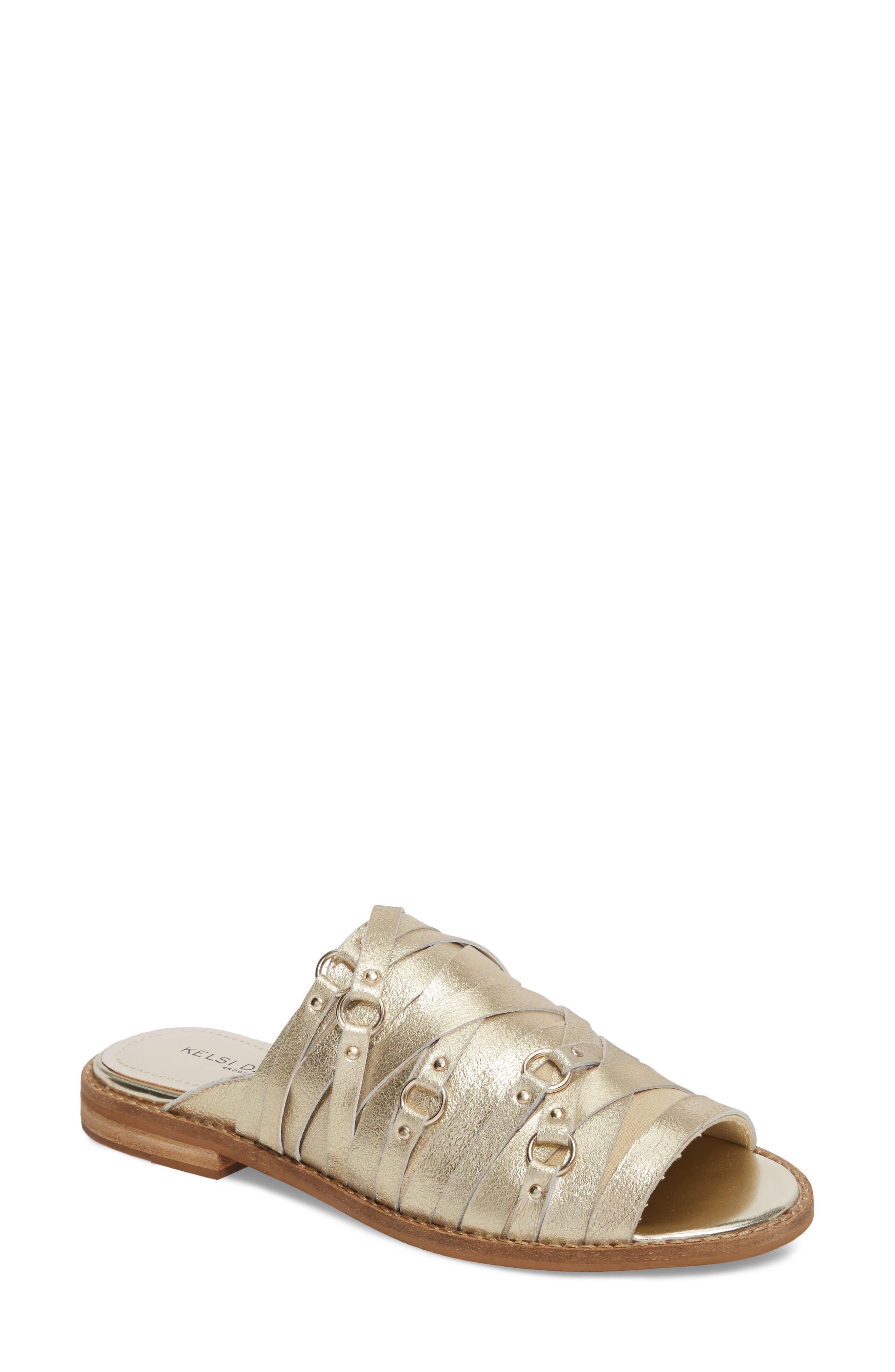 Slope Slide Sandal,                         Main,                         color, Platinum