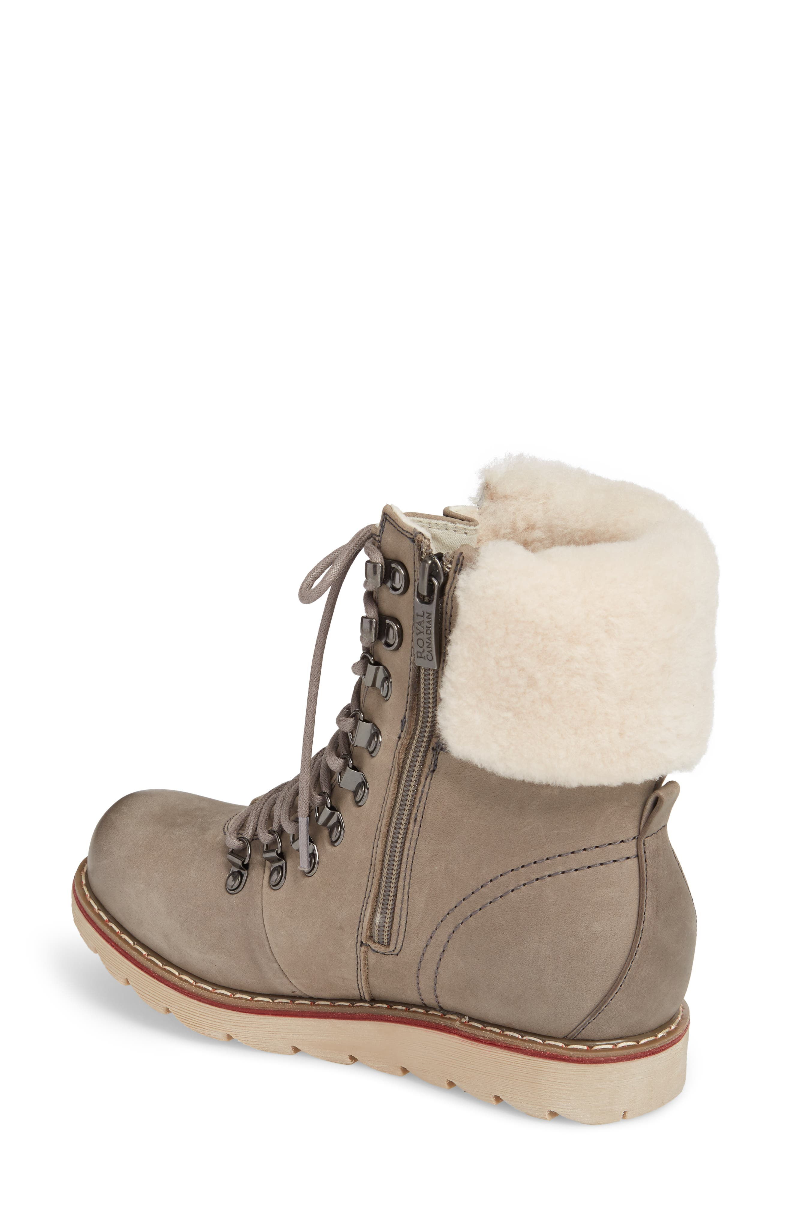 Lethbridge Waterproof Snow Boot with Genuine Shearling Cuff,                             Alternate thumbnail 2, color,                             Grey Leather